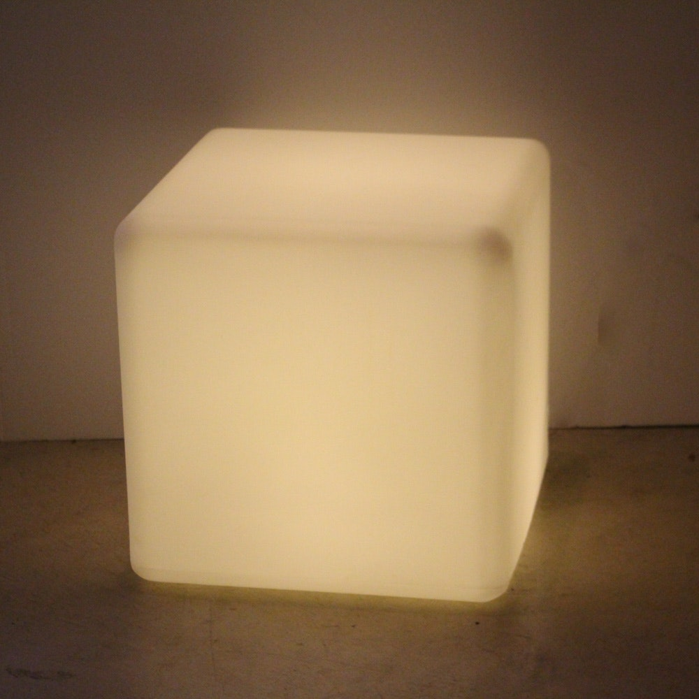 Lighted Molded Plastic Side Table