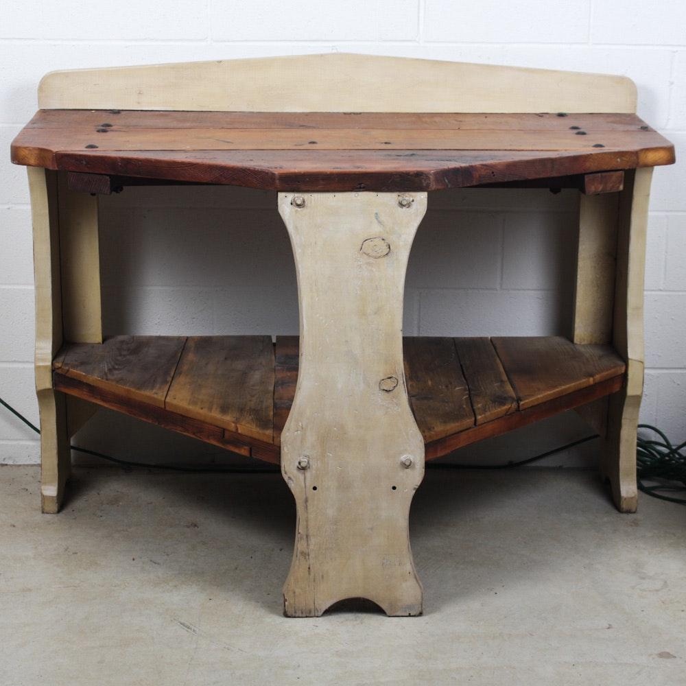 Antique Wooden Potting Table