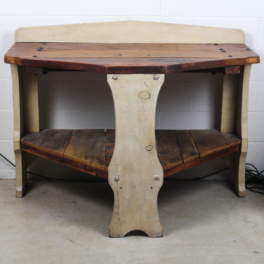 Antique Wooden Potting Table