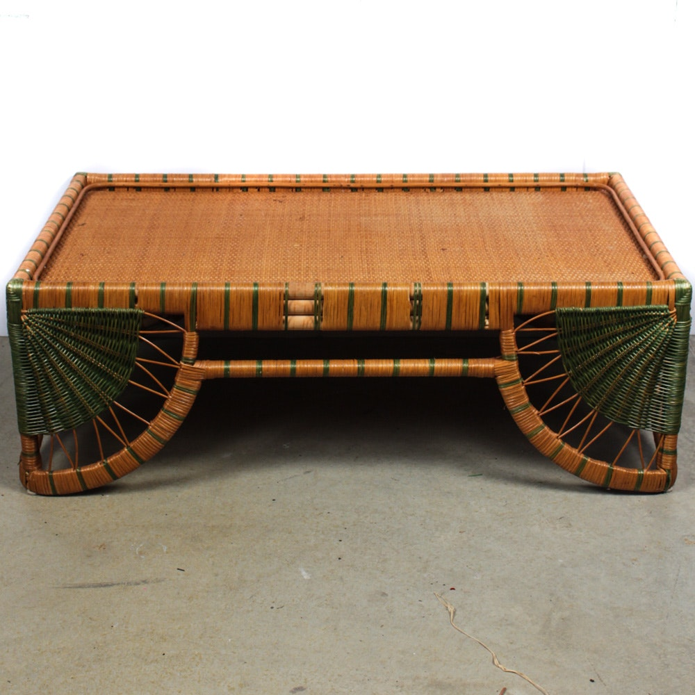 Large-Scale Wicker Coffee Table