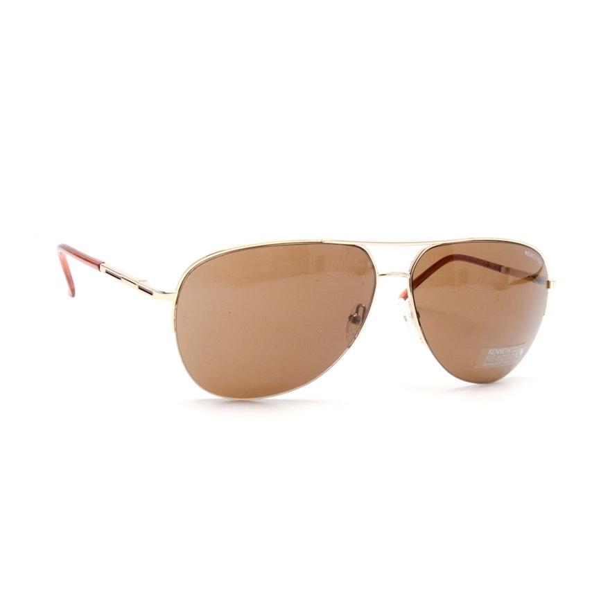 24a7f4cd1 Kenneth Cole Reaction Aviator Sunglasses | EBTH