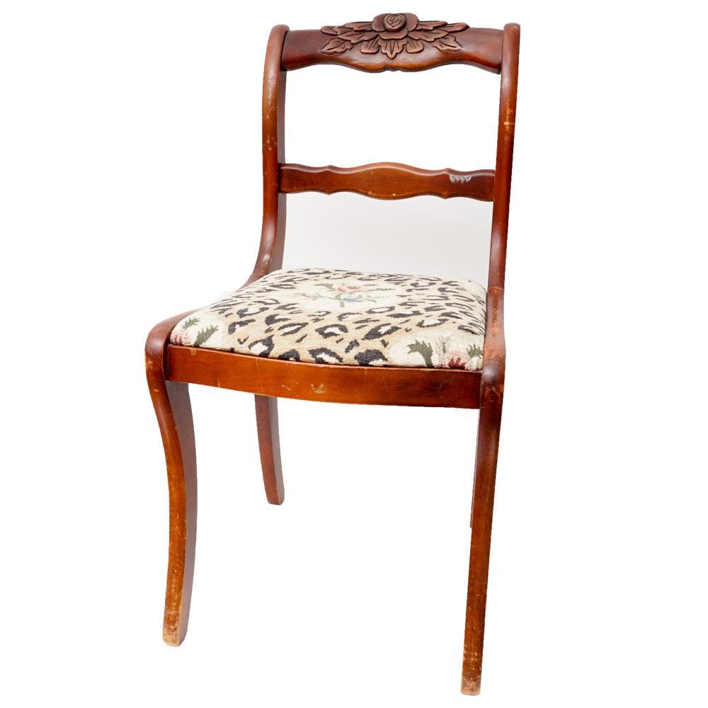 Vintage Carved Wood Chair