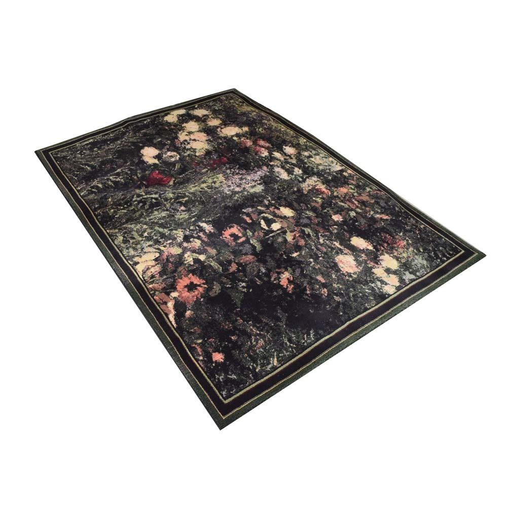 Machine Made Abstract Floral Area Rug