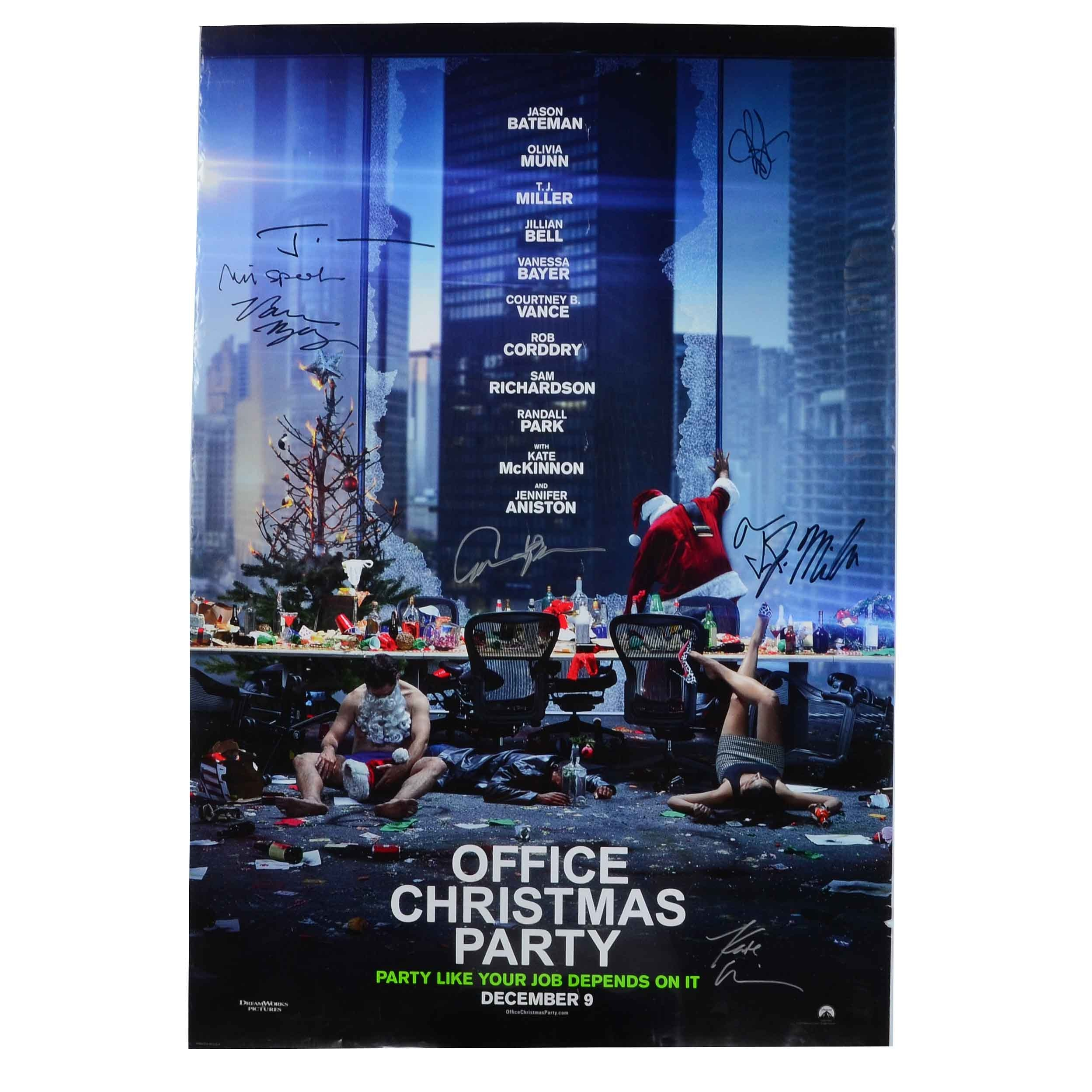 """Office Christmas Party"" Signed Movie Poster"