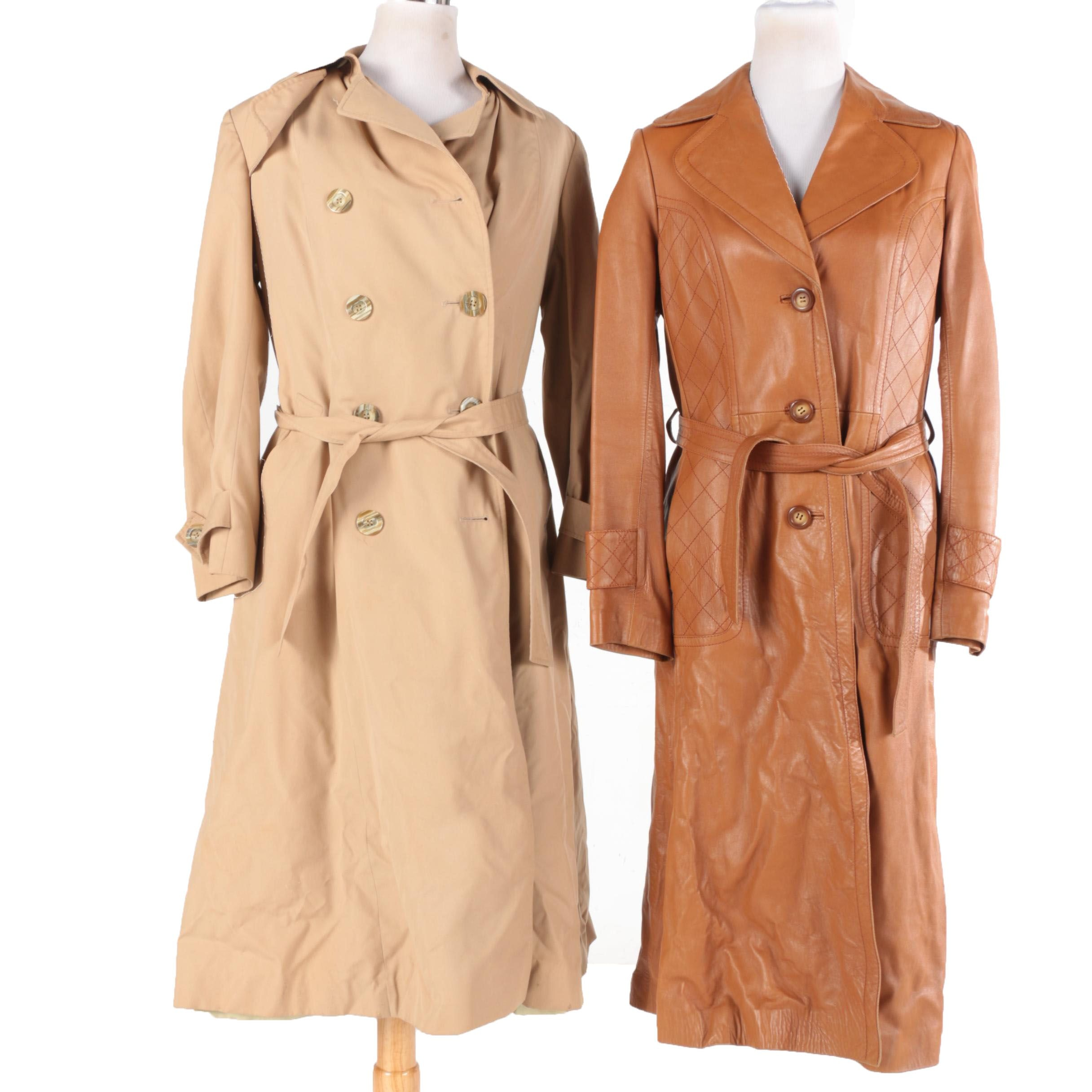 Rain Trench Coat and Leather Jacket