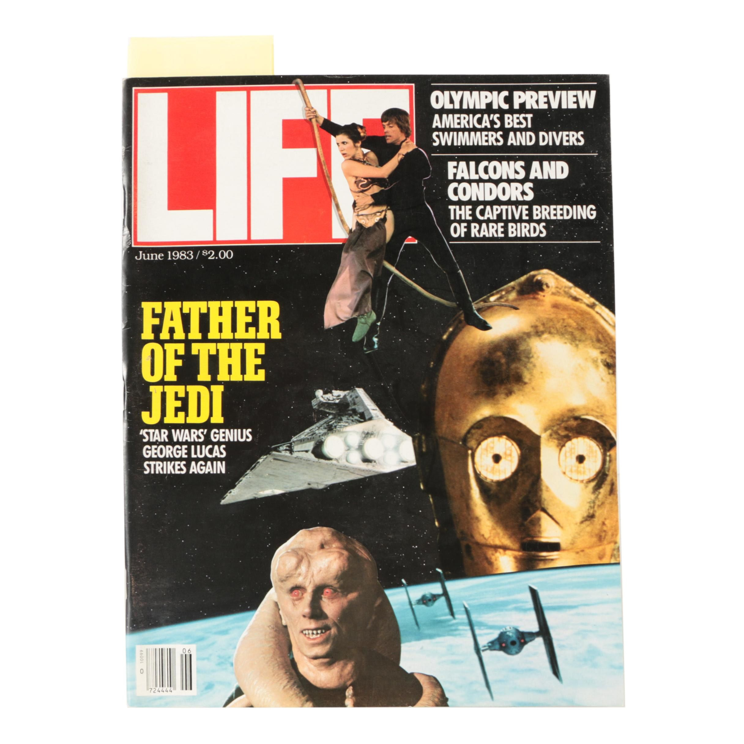 """June 1983 """"Life"""" Magazine With """"Star Wars"""" """"Return of the Jedi"""" Cover"""