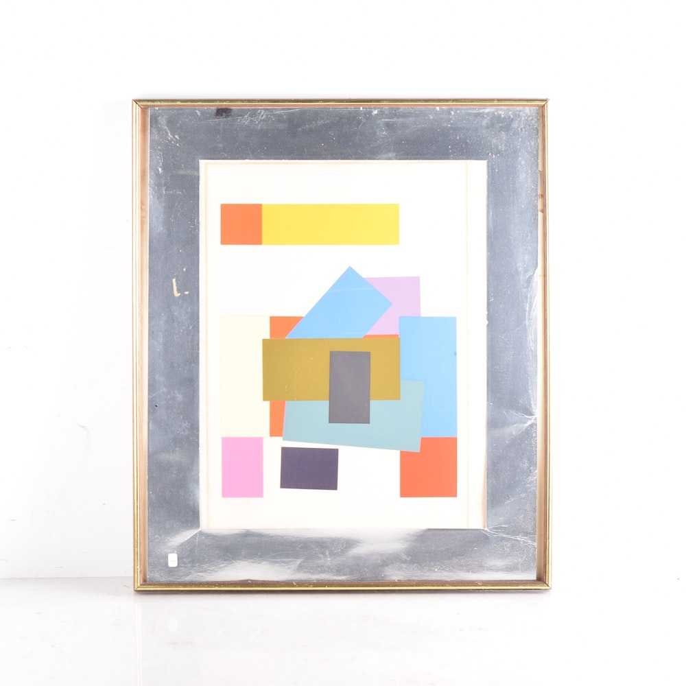 Garcia Limited Edition Serigraph of Abstract Composition