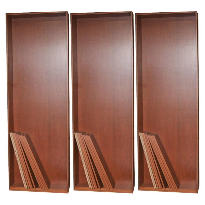 Group of Matching Teak and Wood Bookcases