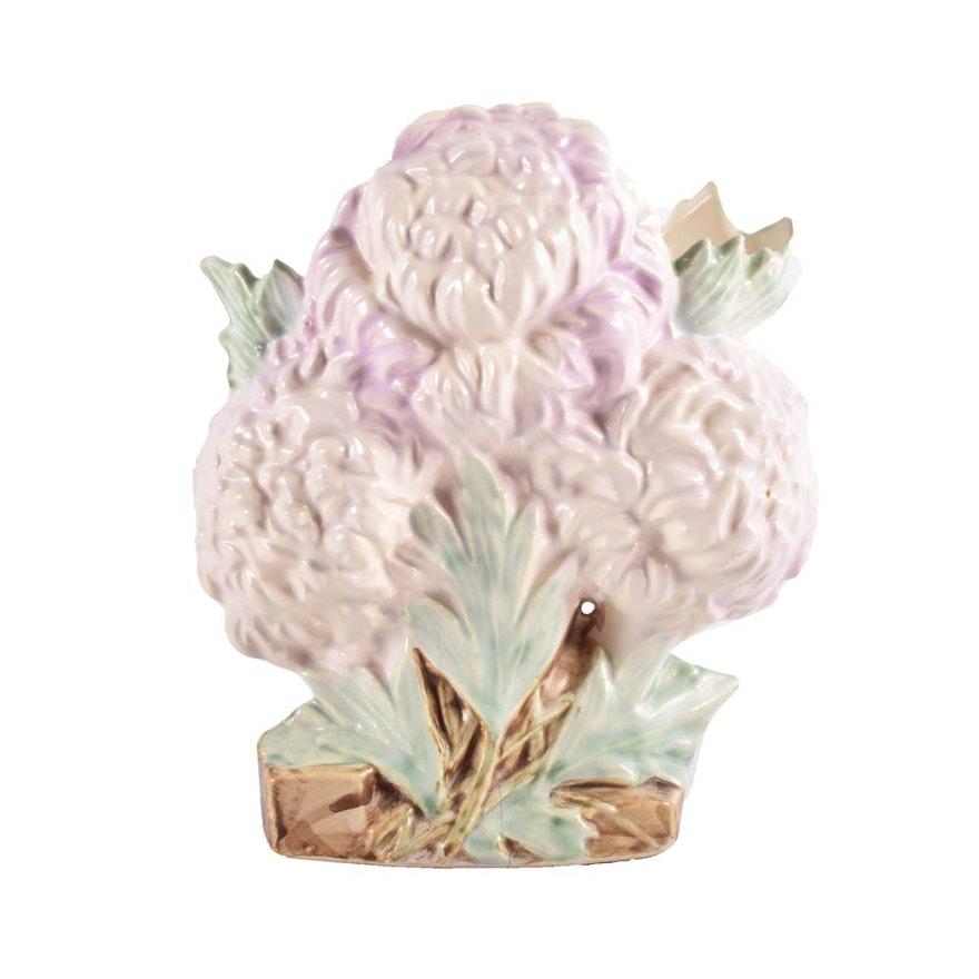 Vintage Mccoy Pottery Chrysanthemum Vase Ebth