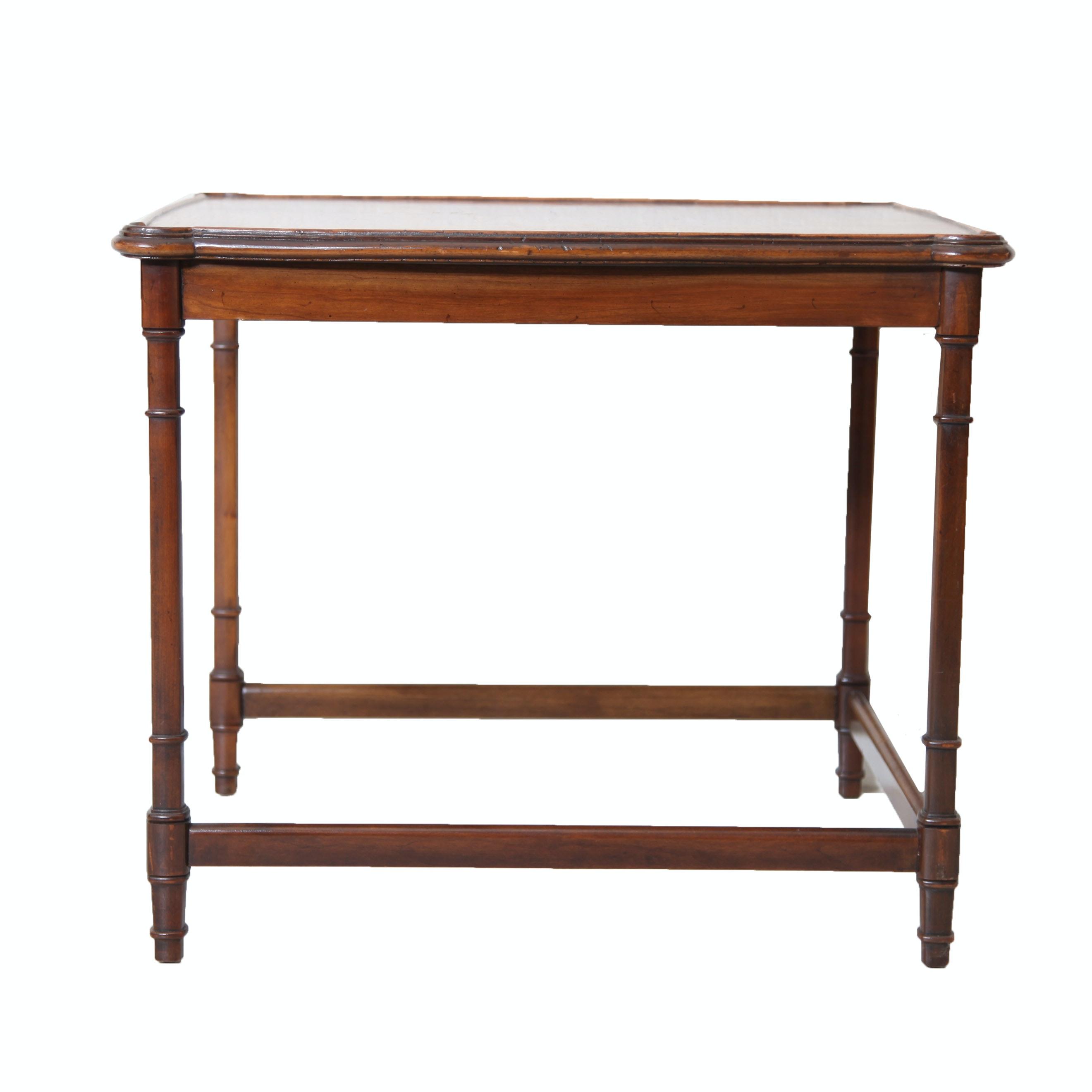 Sheraton Style Walnut End Table