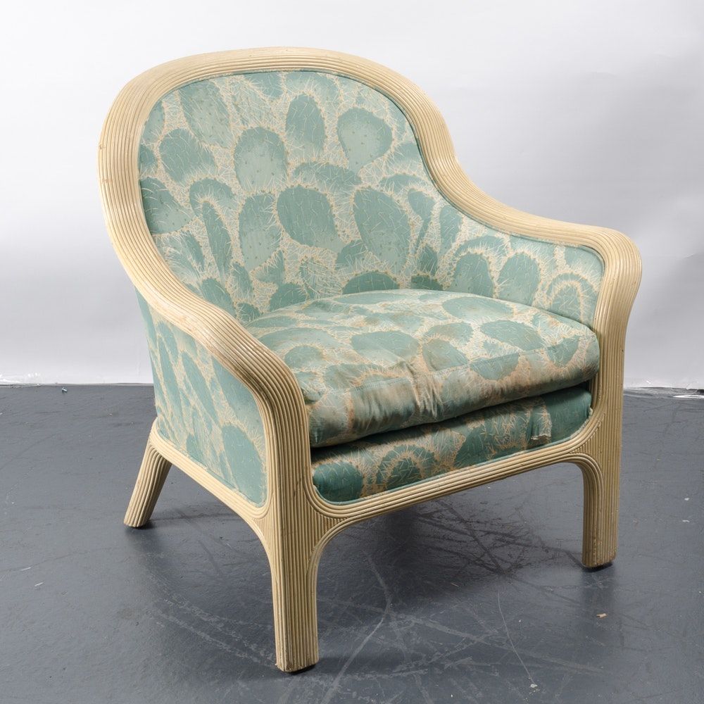 Chair with Prickly Pear Design by Baker Furniture