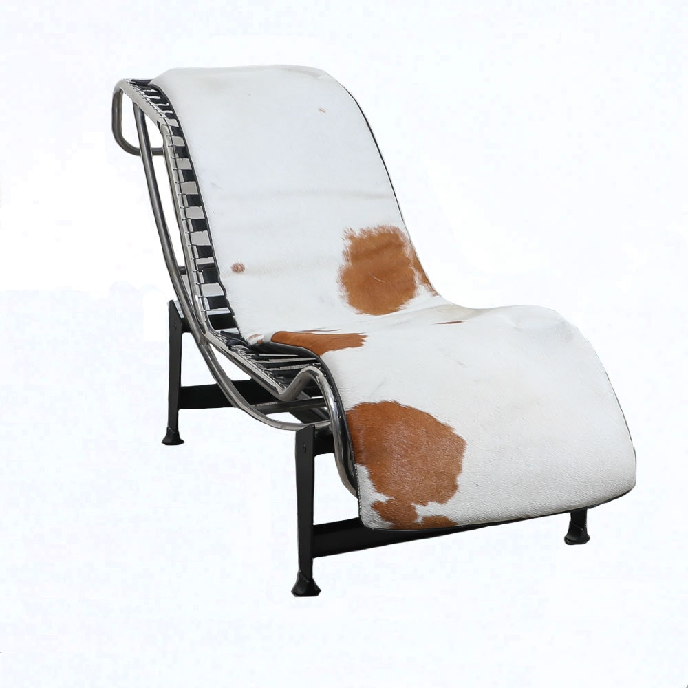 """Le Corbusier """"LC4"""" Style Chaise Lounger"""