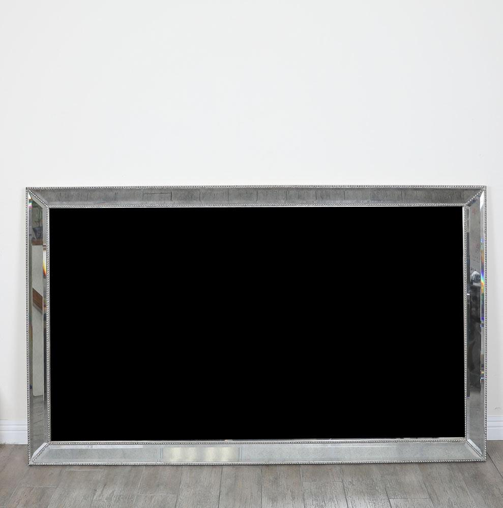 Oversized Silver Tone Mirror