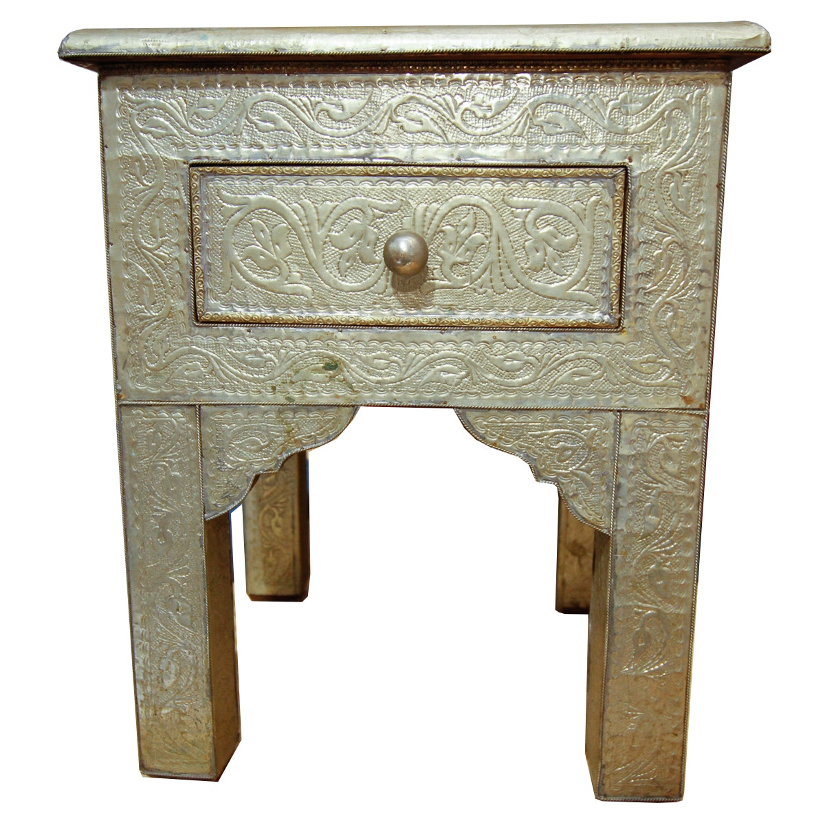 Moroccan Style Metal Side Table