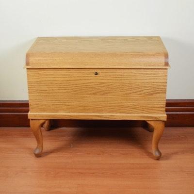 Oak and Cedar Blanket Chest on Legs