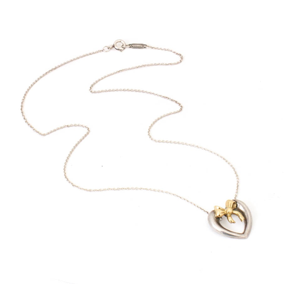 Tiffany & Co. 18K Yellow Gold and Sterling Silver Necklace