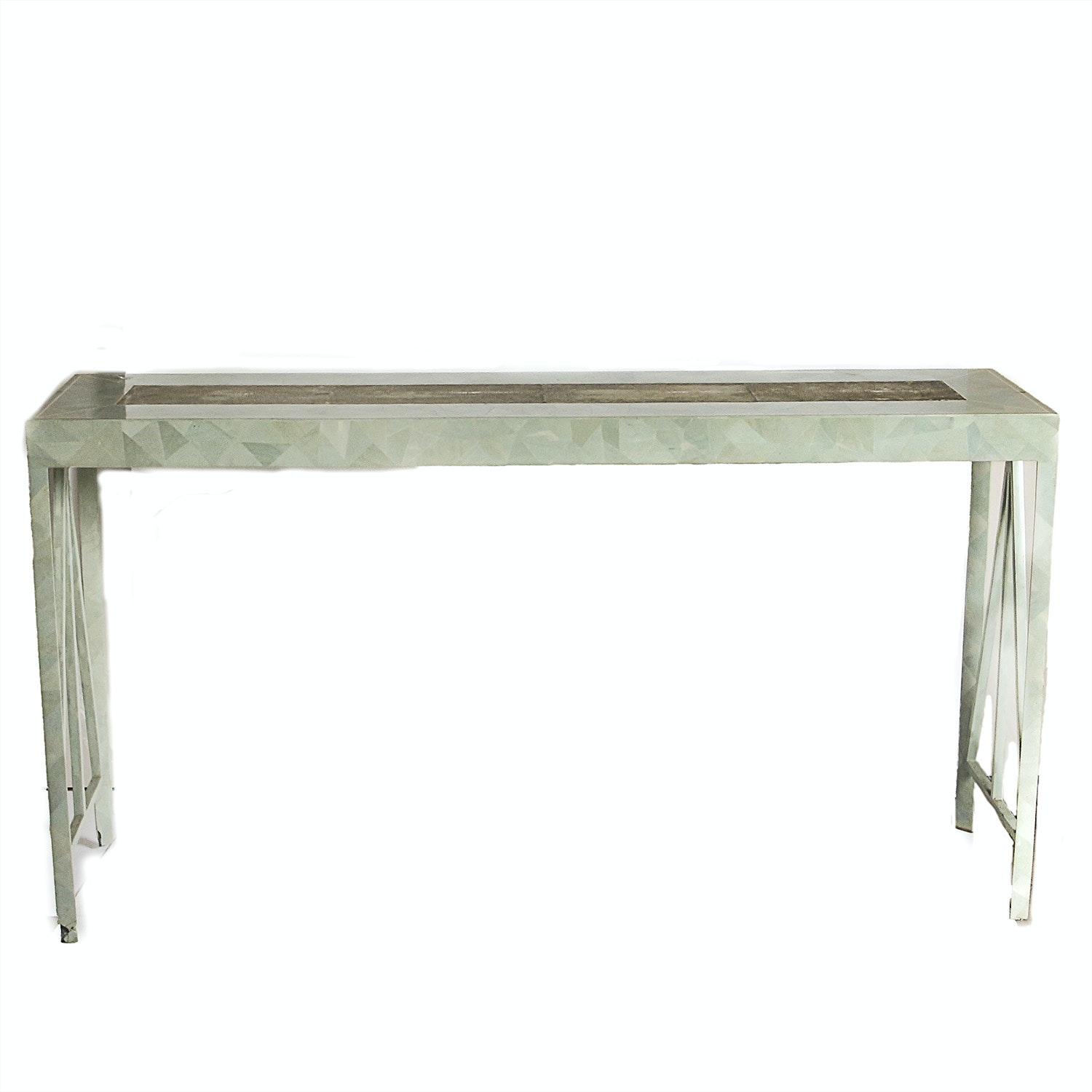 Green Mosaic Metal Console Table