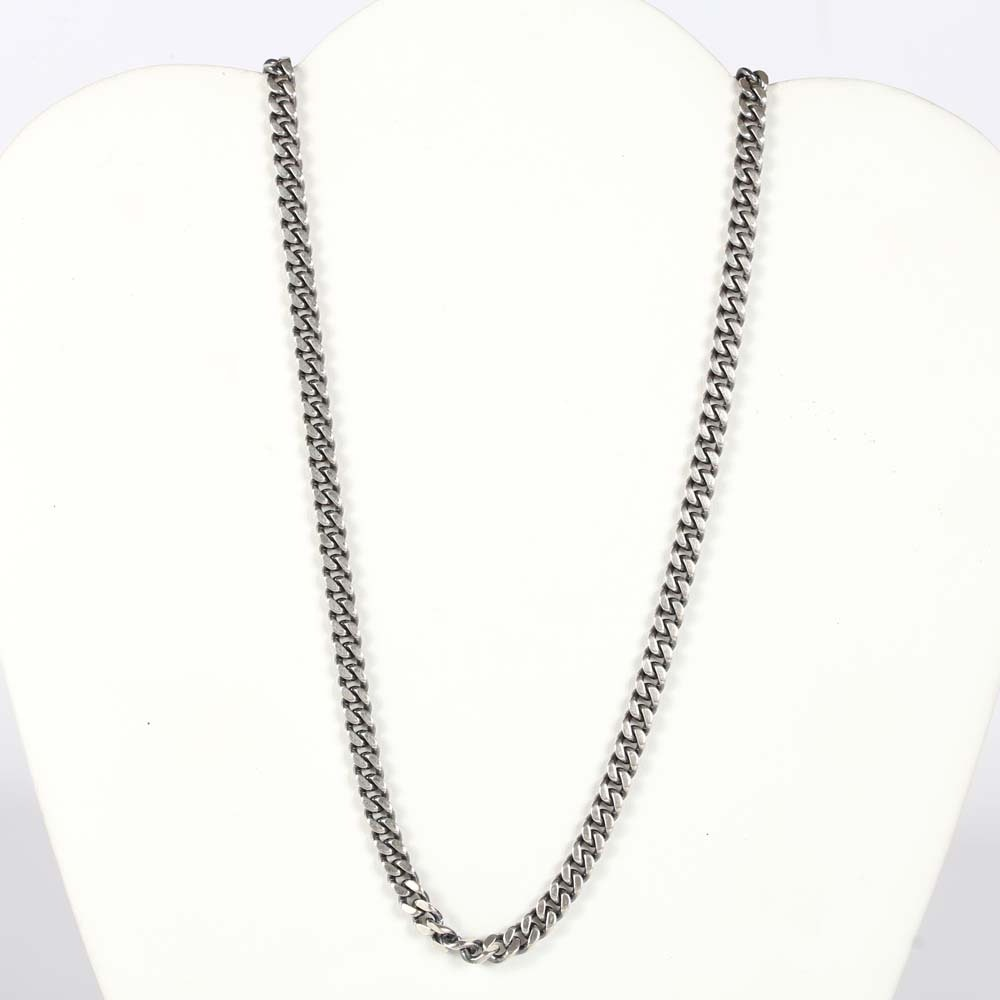 Sterling Silver Diamond Accented Necklace