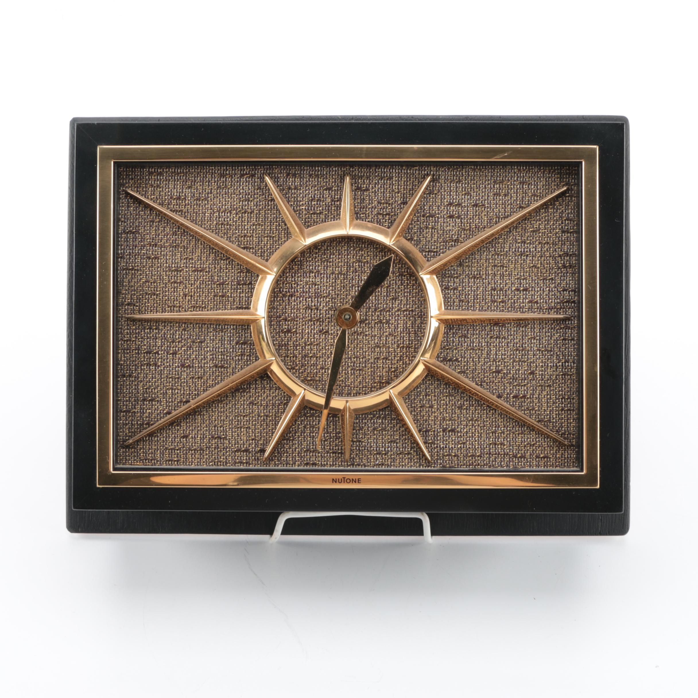 NuTone Mid Century Modern Wall Clock and Doorbell