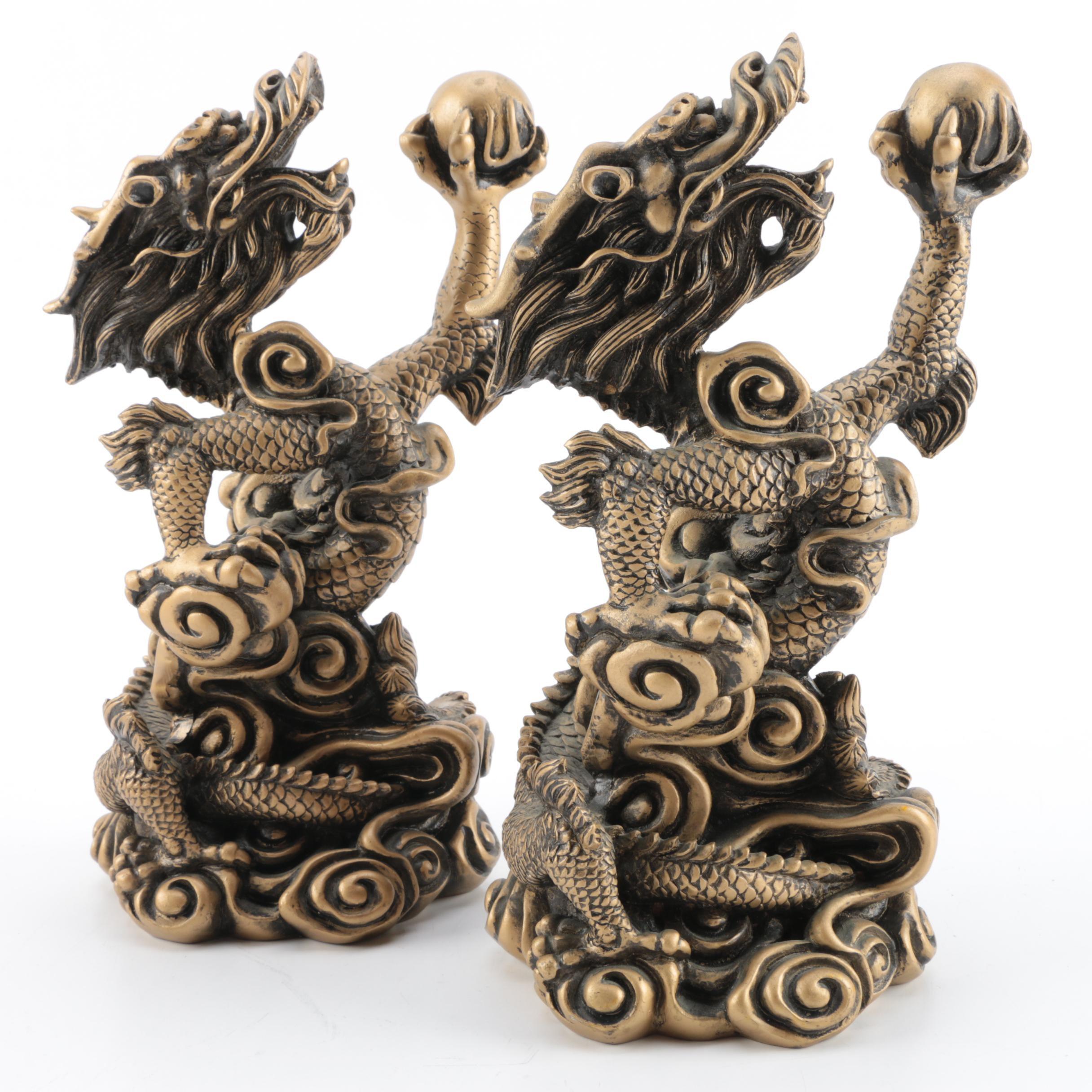 Chinese Dragon Figurines