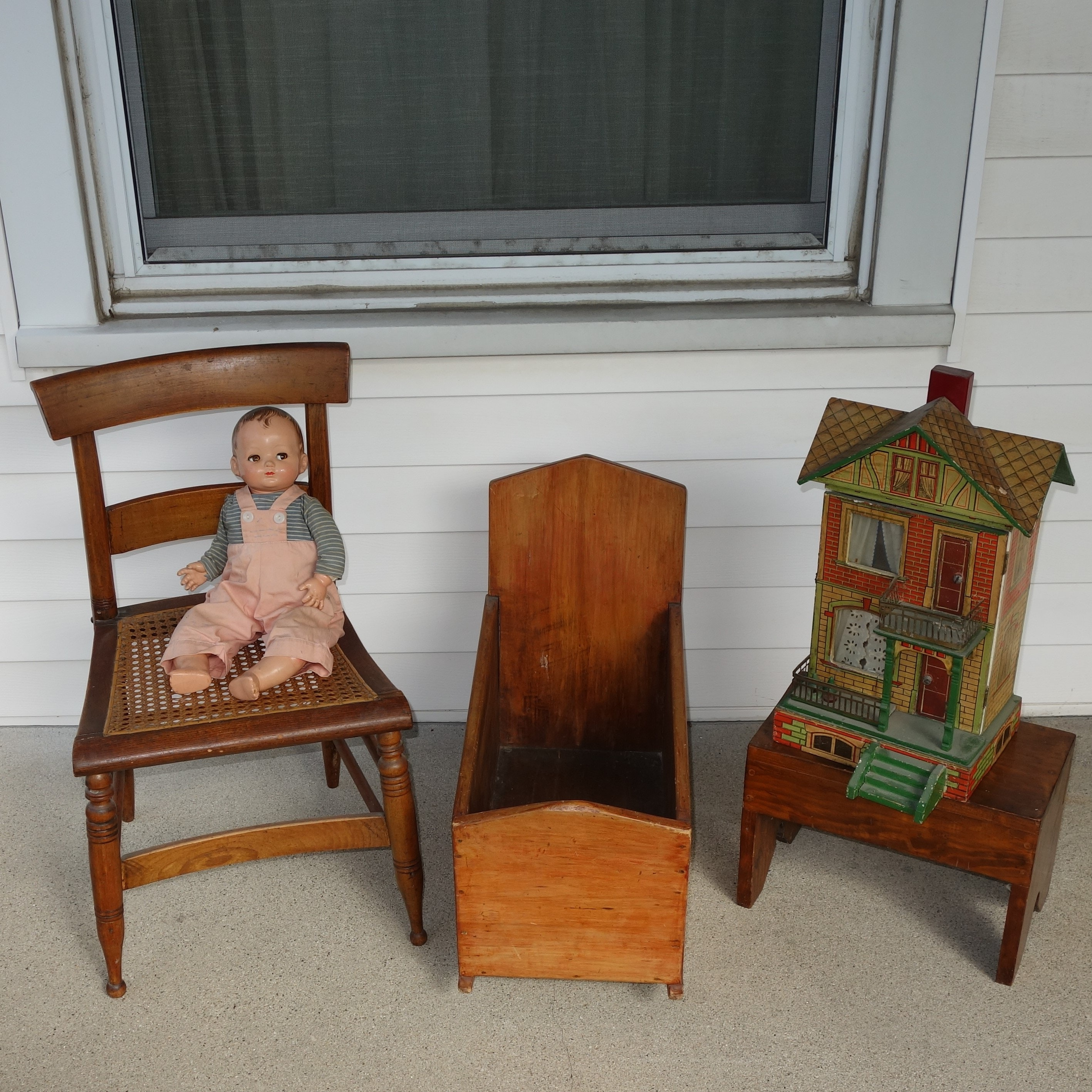 Child's Chair and Baby Doll Furniture