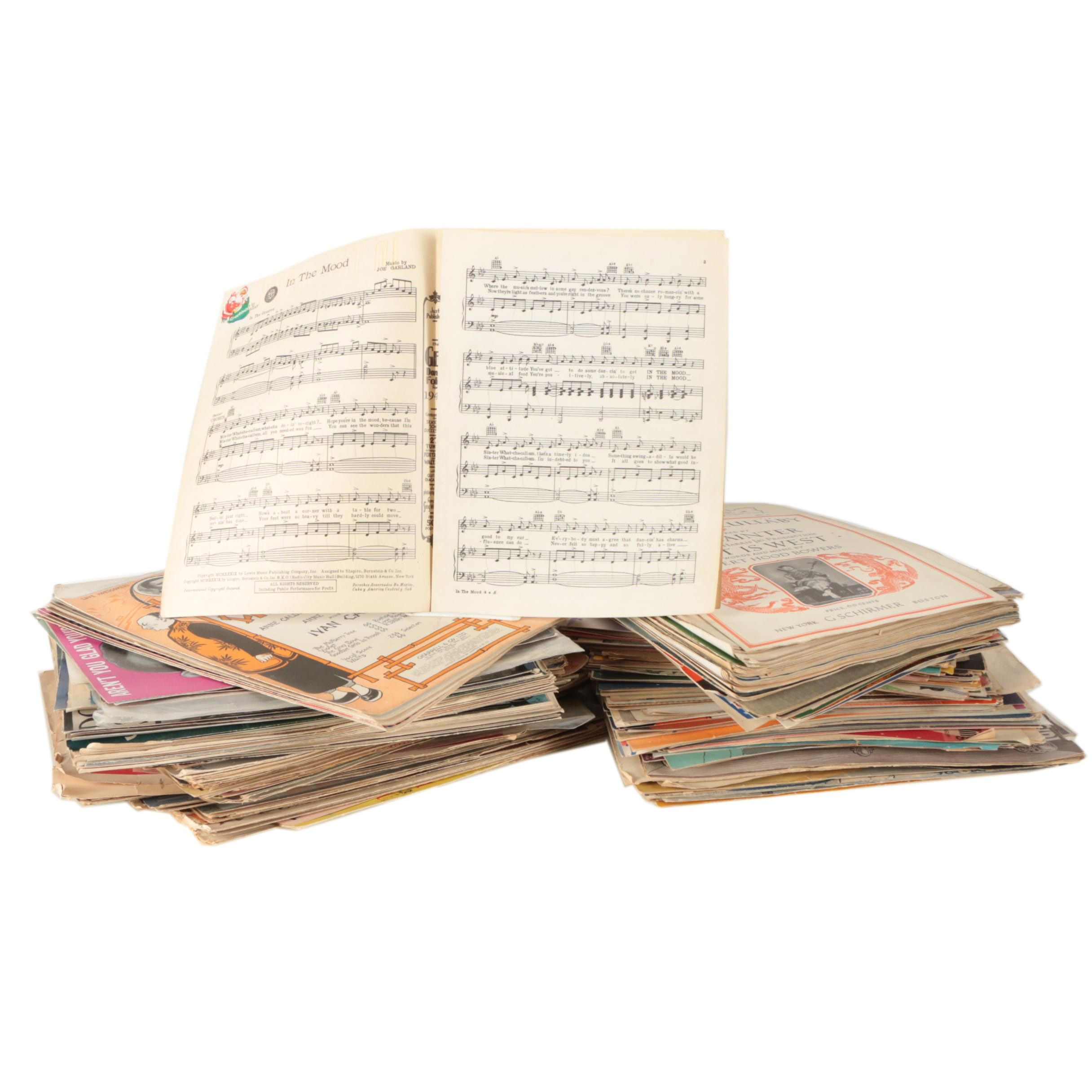 Over 100 Vintage Songbooks of Sheet Music