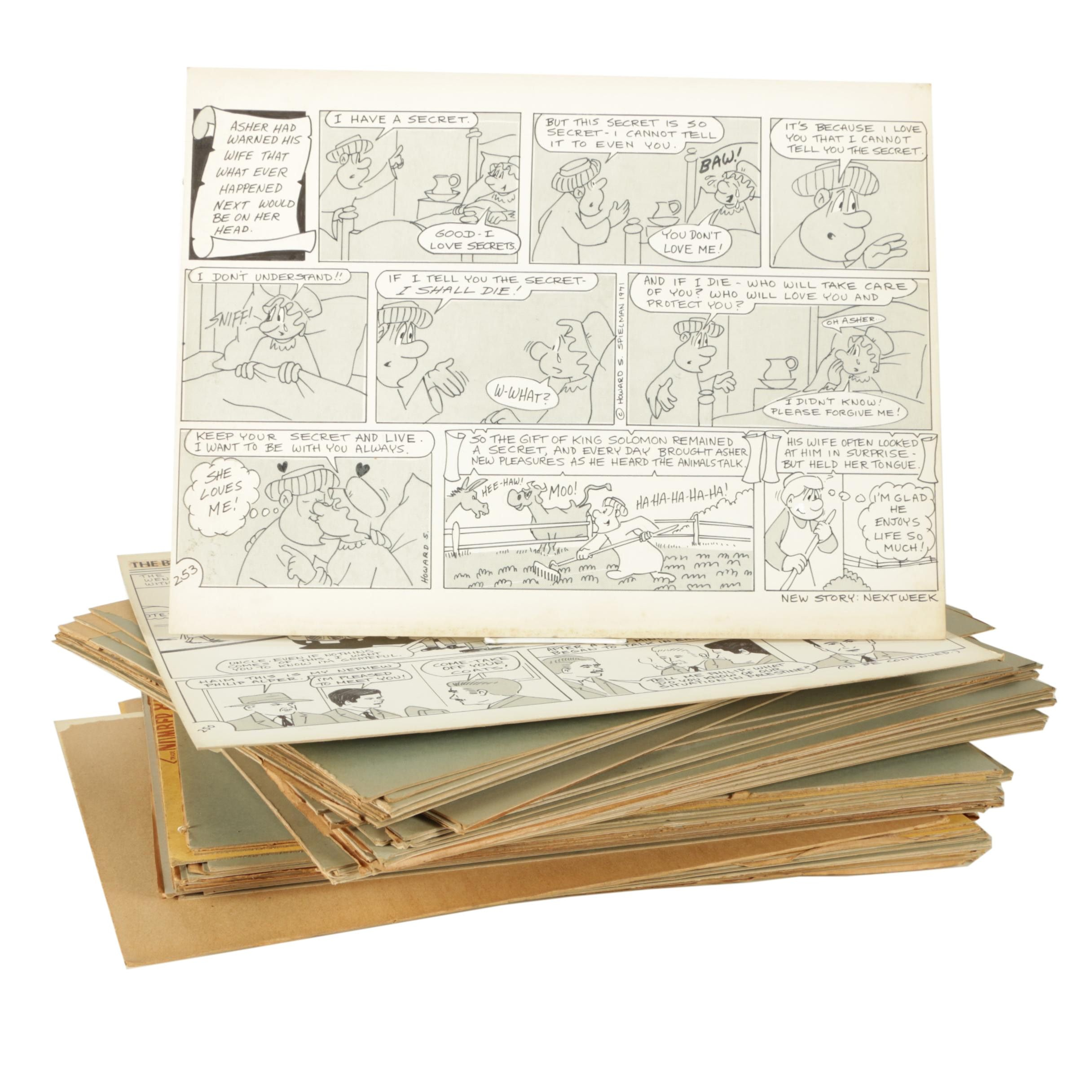 Arnold Fine and Howard Spielman Storyboard Panels and Illustrations
