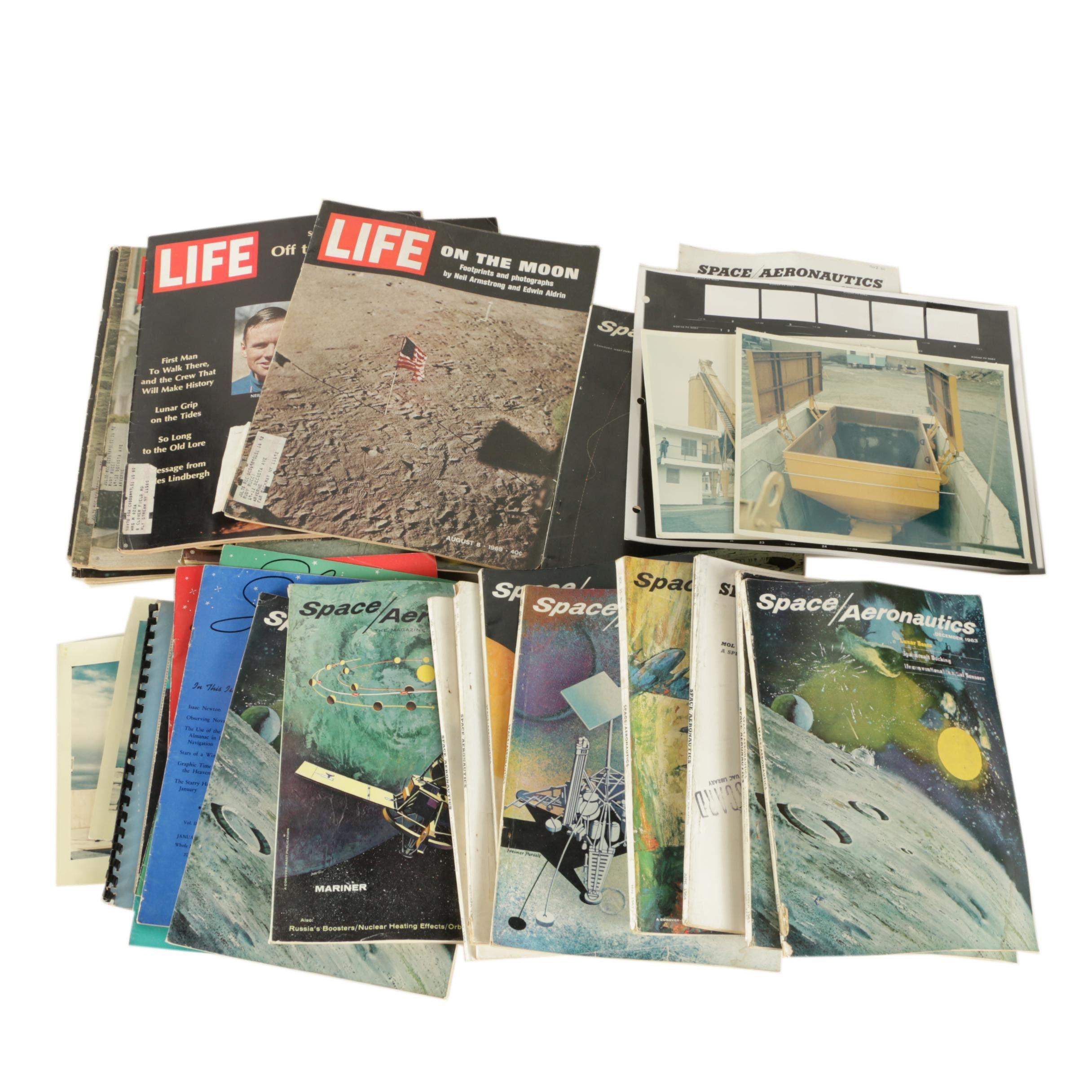 Assortment of Magazines and Photographs