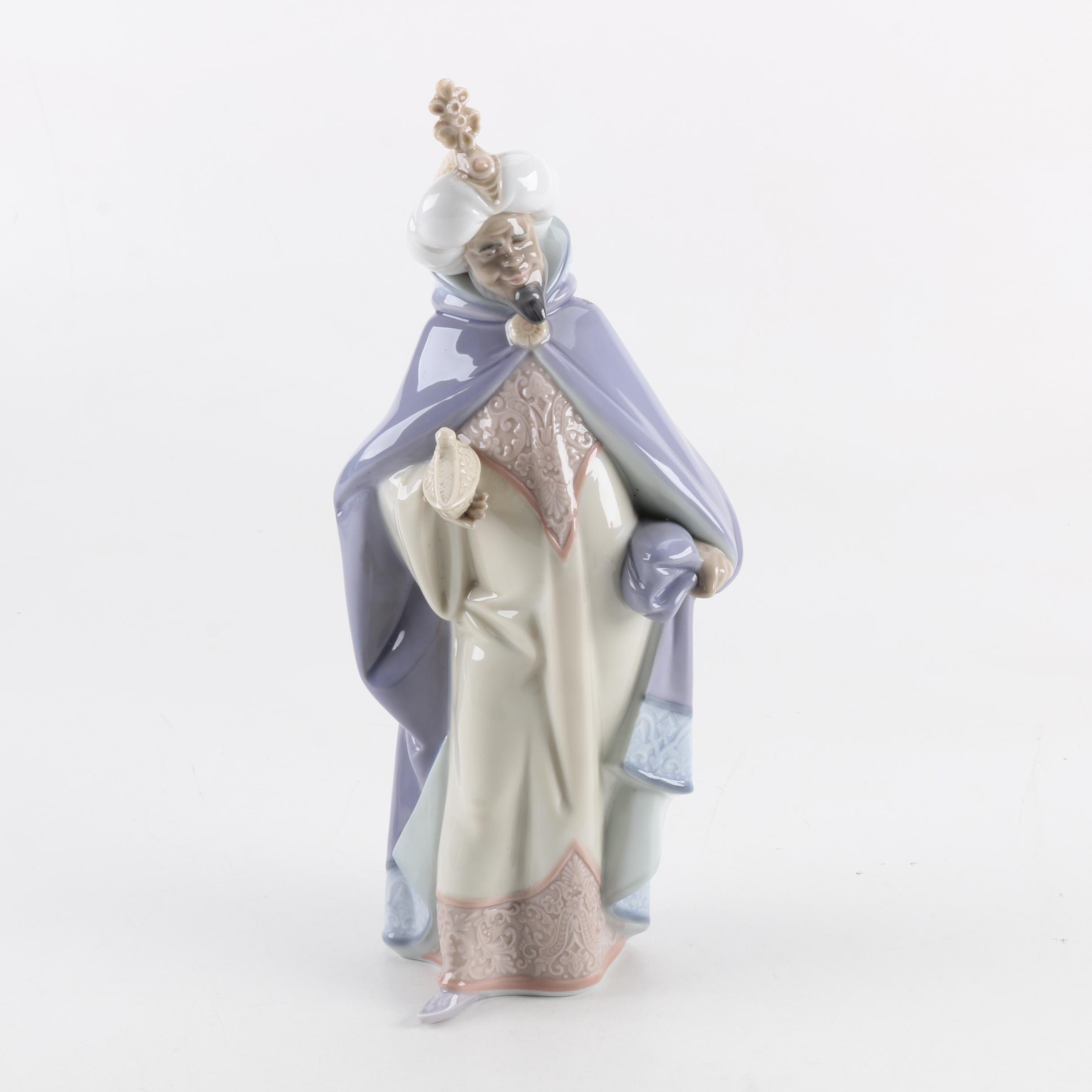 "Lladró ""King Balthasar"" Porcelain Nativity Figurine"