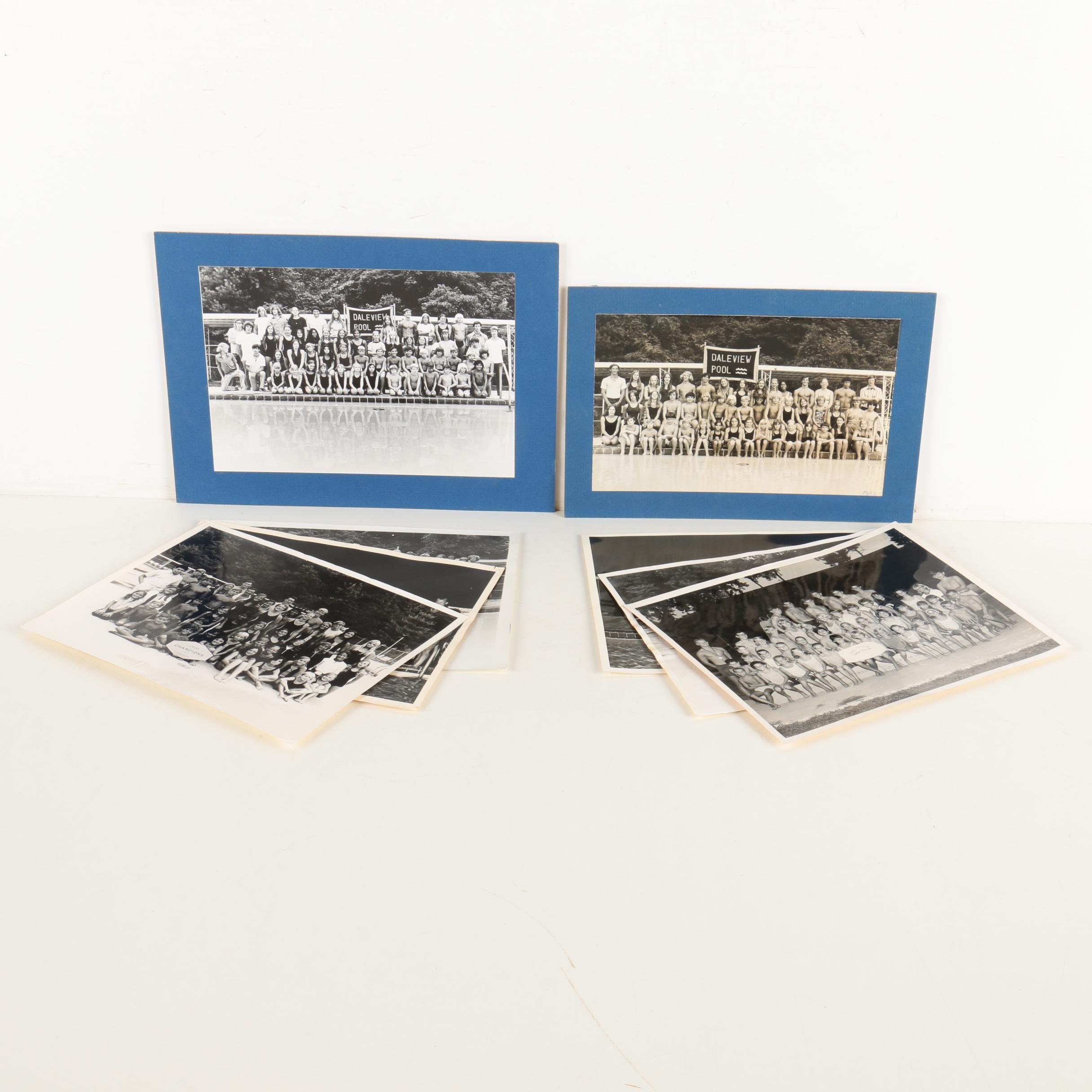 Vintage Photographs of Daleview Pool Swim Teams