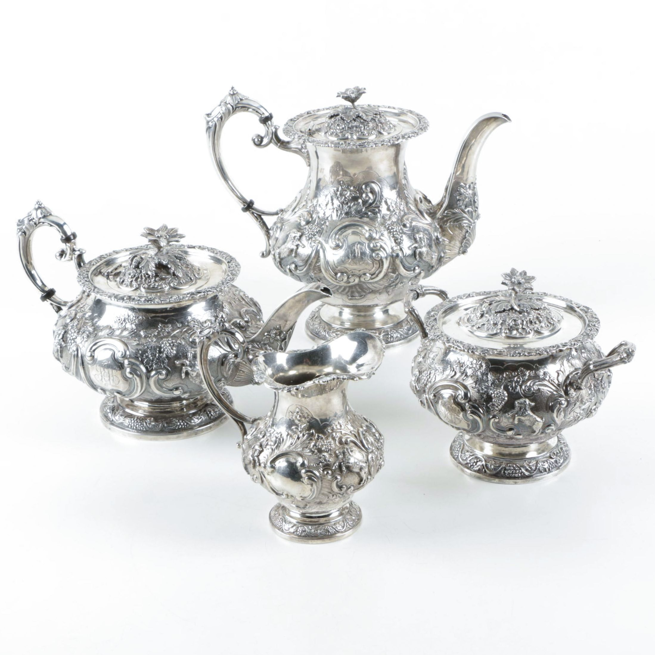 Coin Silver Tea and Coffee Service