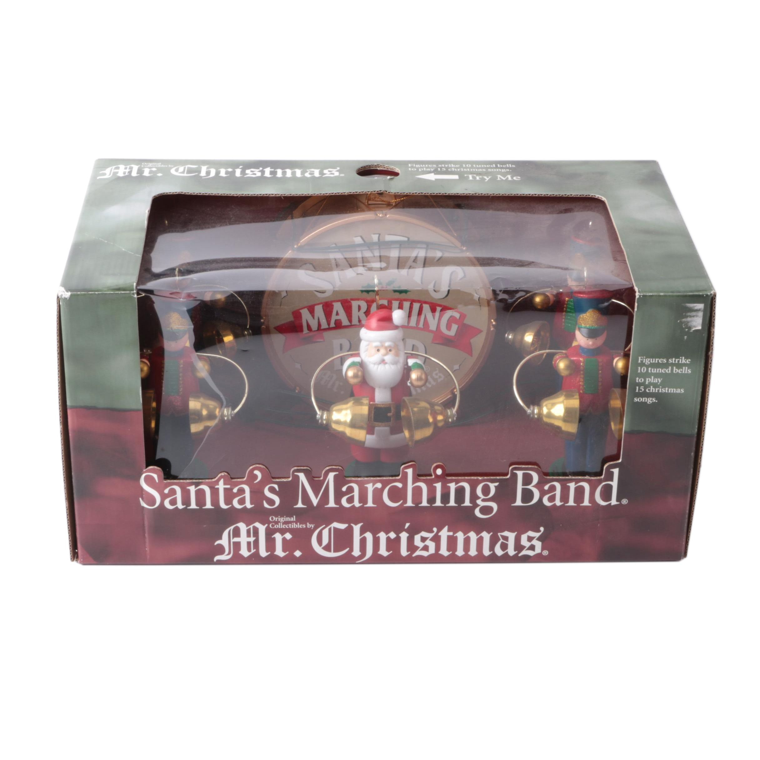 "Mr. Christmas Animated ""Santa's Marching Band"" Figurines"