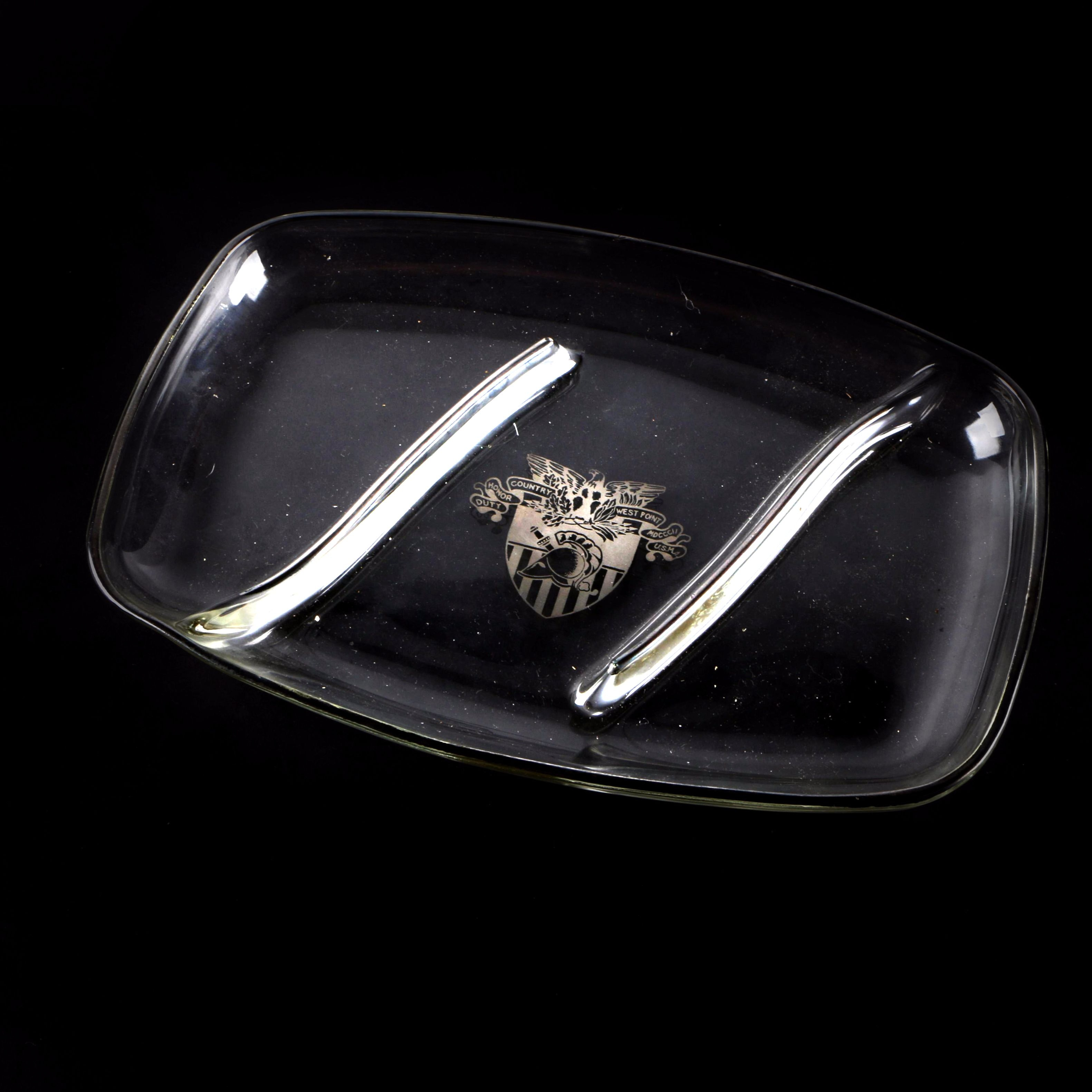West Point Logo Glass Serving Plate