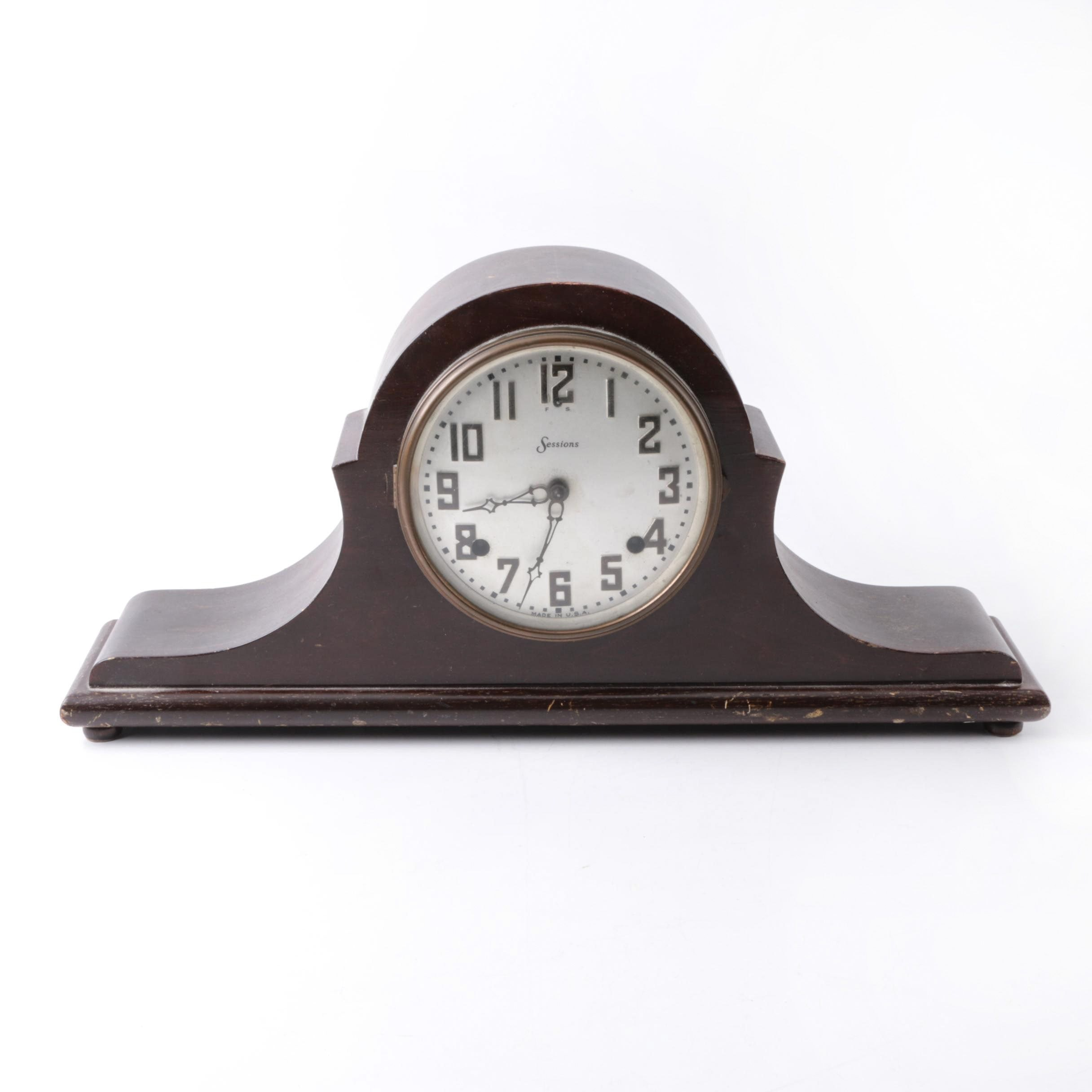 Vintage Sessions Tambour Style Mantel Clock