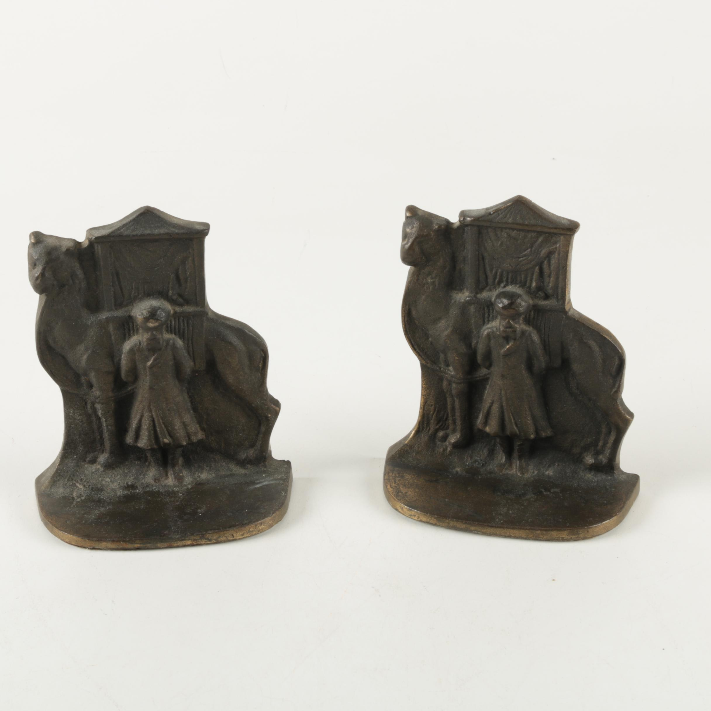 Brass Figural Bookends