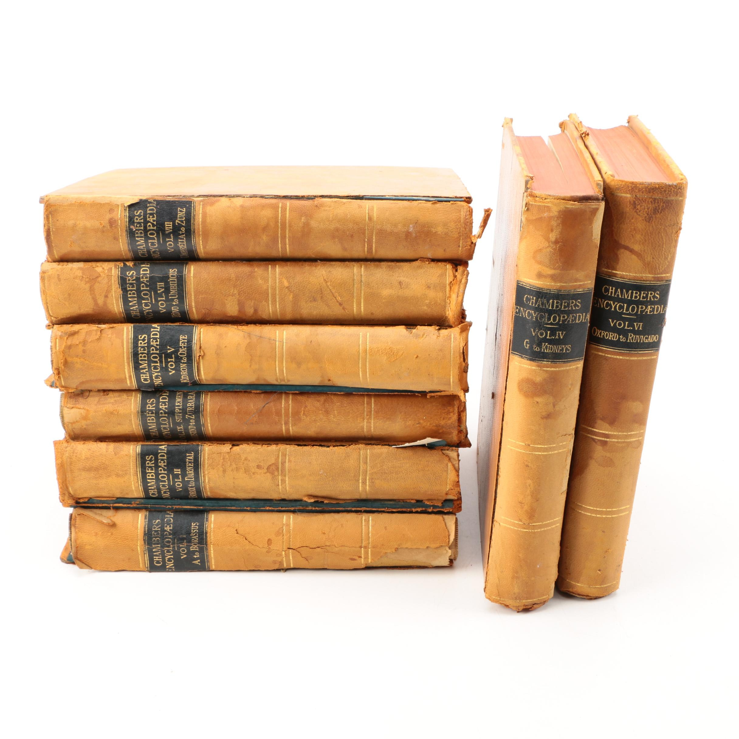 """1894 """"Chambers's Encyclopædia"""" in Eight Volumes"""