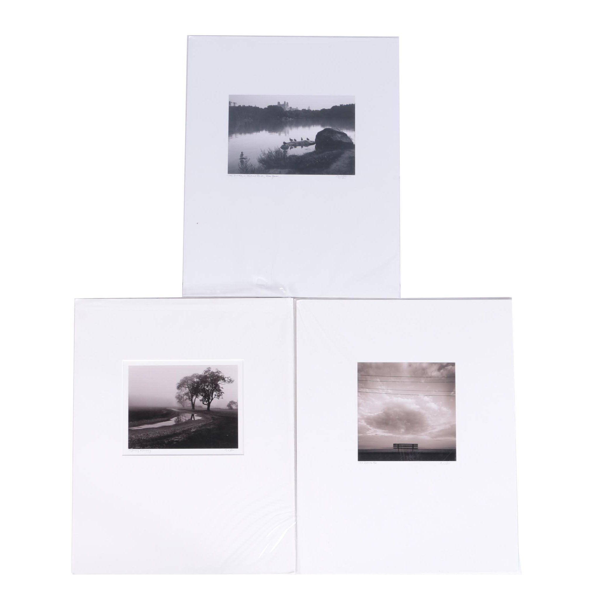 Richard Calvo Digital Black and White Photographs Featuring a Limited Edition