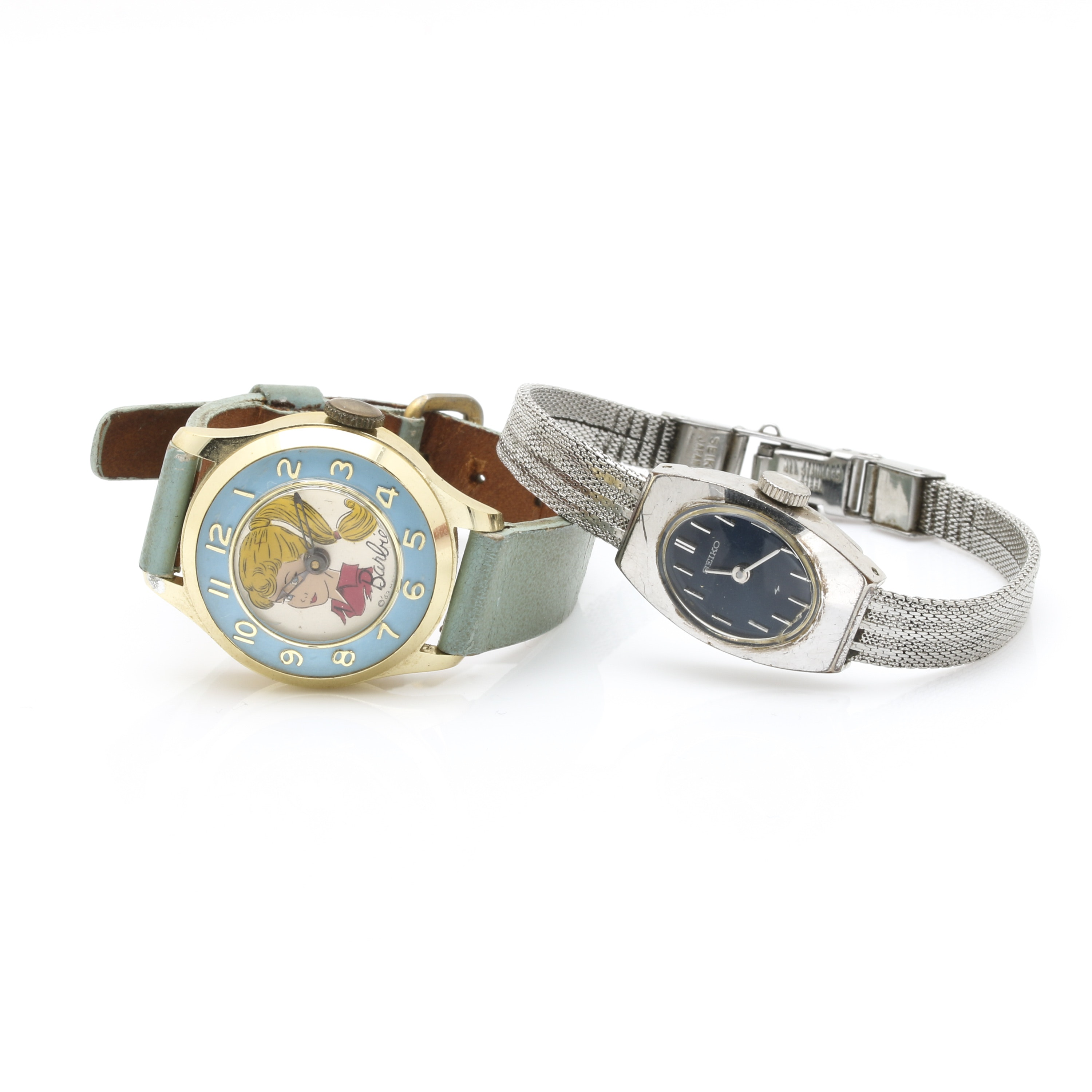 Assortment of Wristwatches Featuring Barbie and Seiko