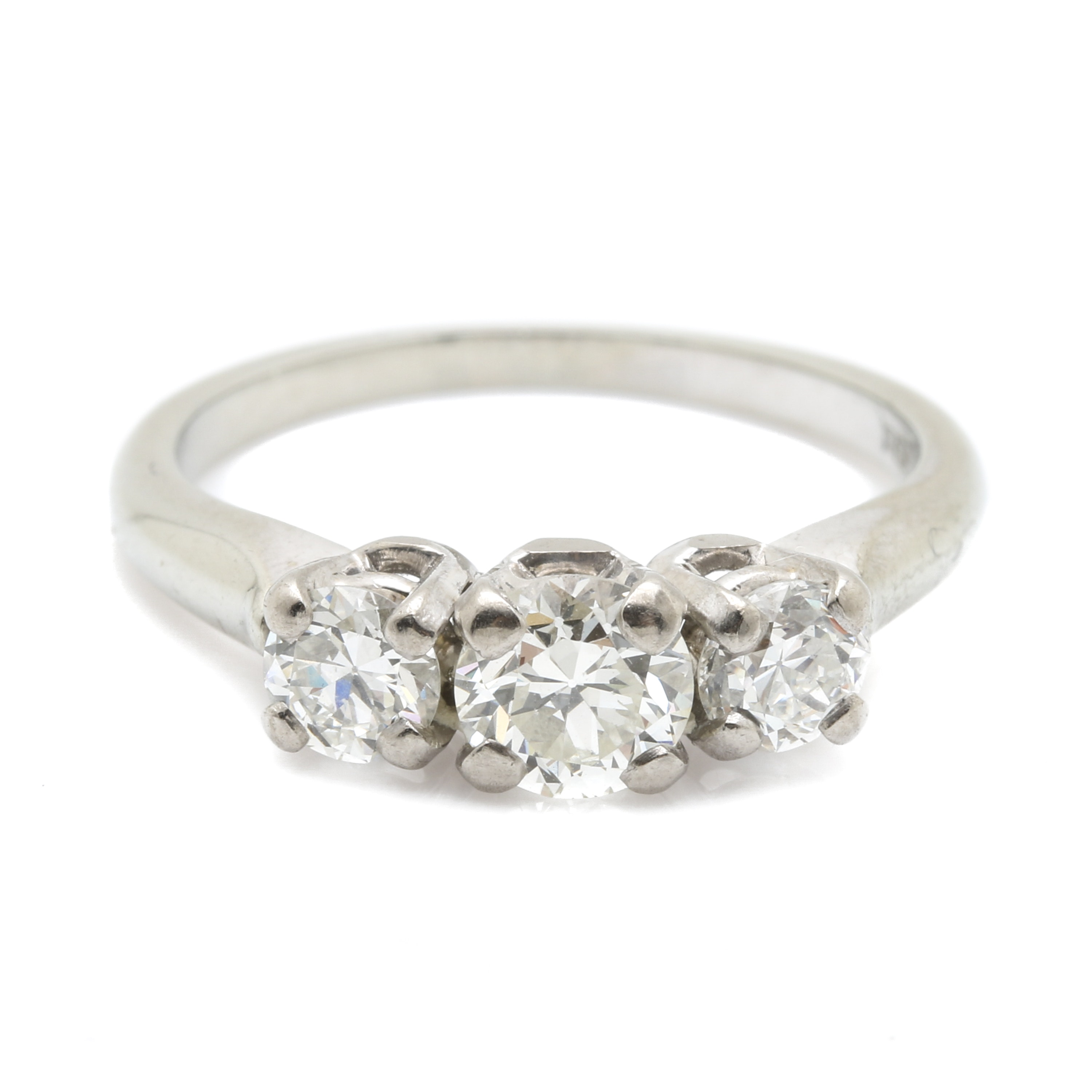 Jabel 18K White Gold 0.98 CTW Diamond Ring