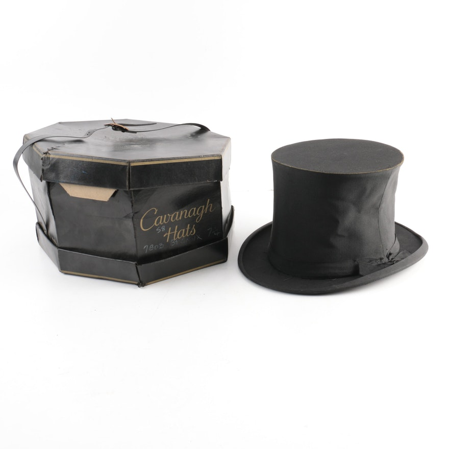 Vintage Dobbs of Fifth Avenue Top Hat   EBTH 176f42c29c0