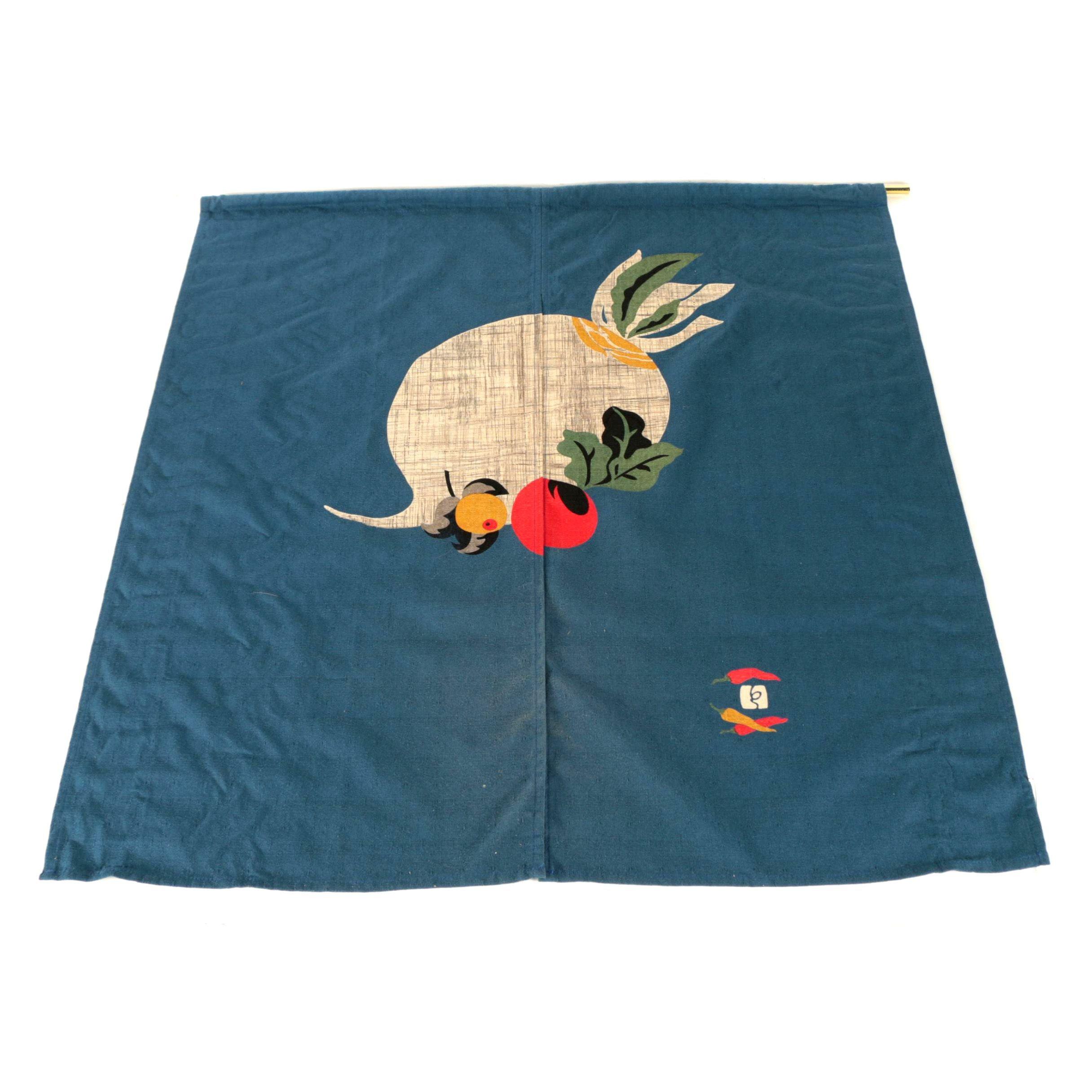 Japanese Linen Doorway Curtain