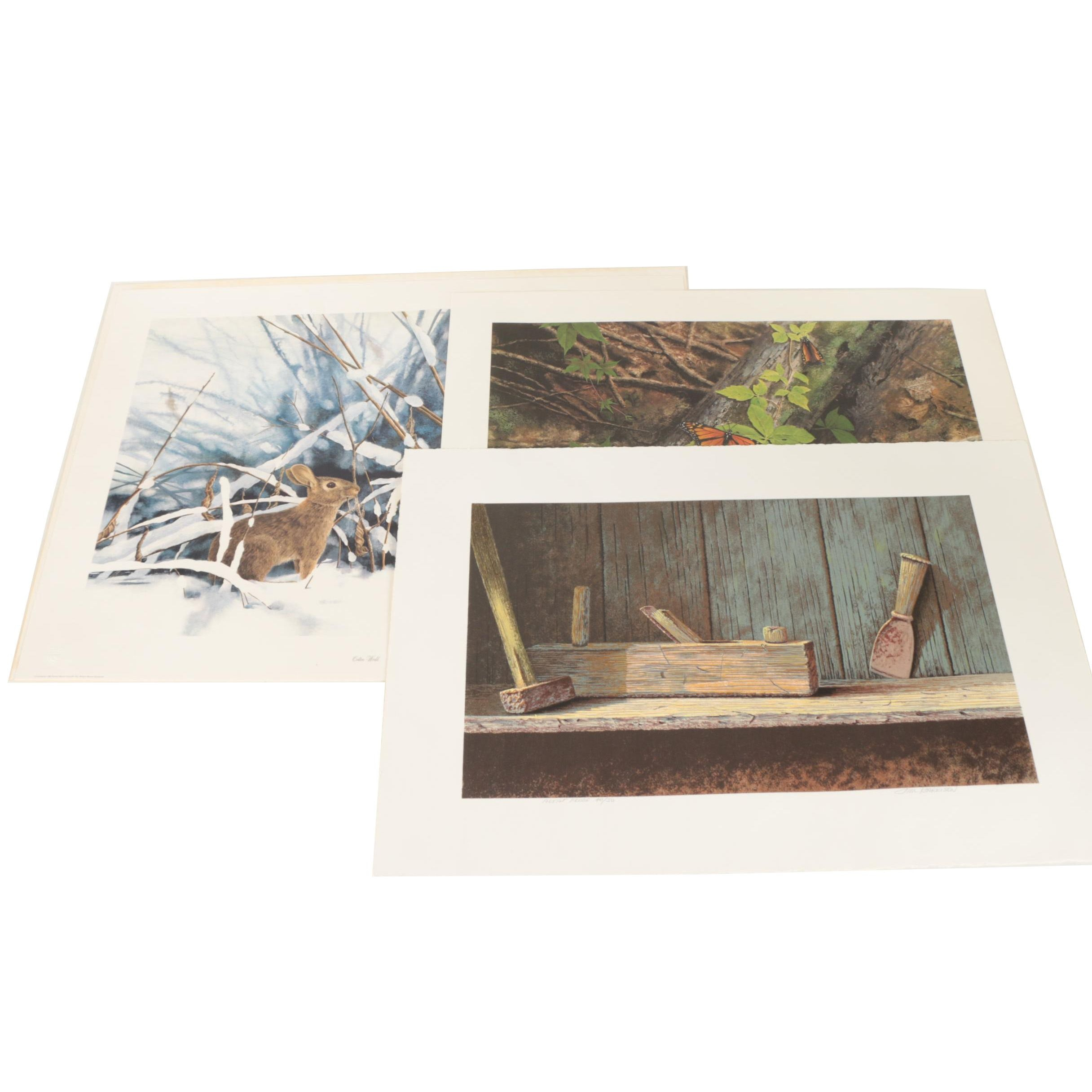 Jim Harrison Limited Edition Monotype and Offset Lithograph Prints on Paper