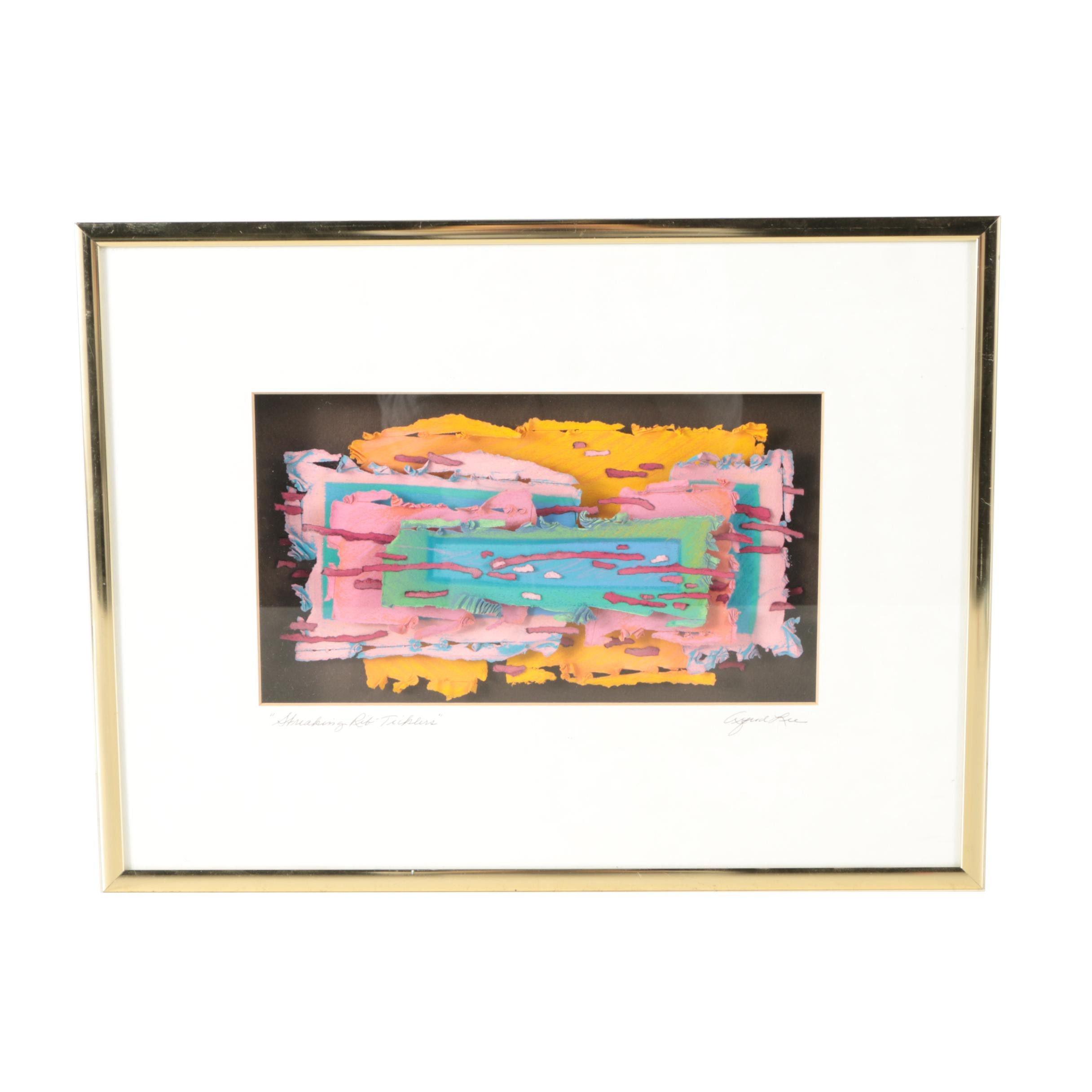 """Alfred Lee Paper Art """"Streaking Rib-Ticklers"""""""