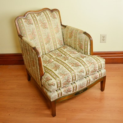 Floral Upholstered Armchair by Pogues