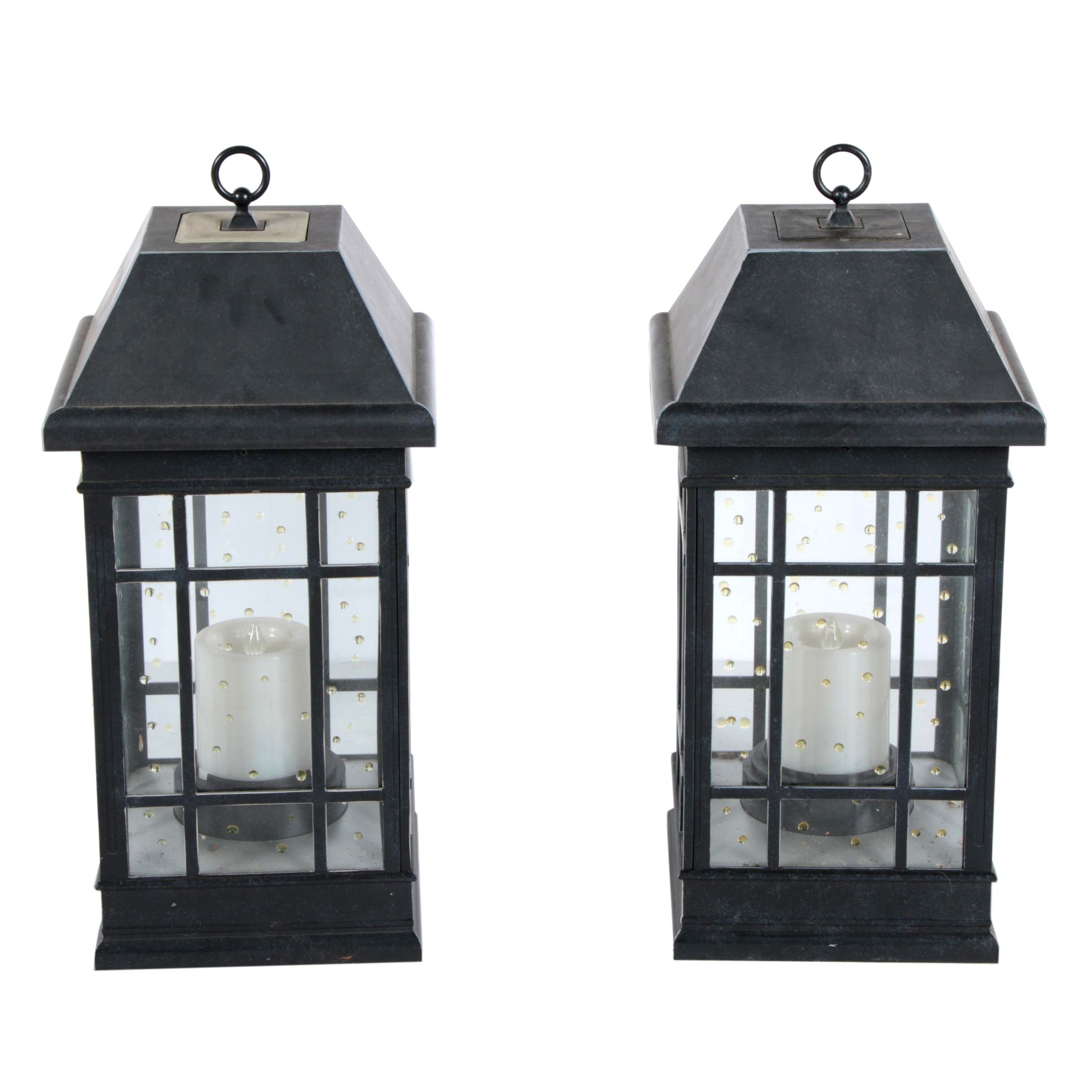 Pair of Large Outdoor Electric Lanterns