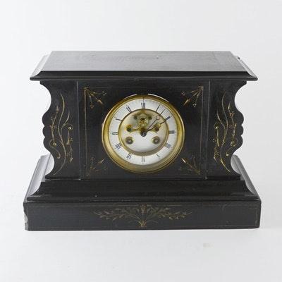 Antique french slate mantel clocks