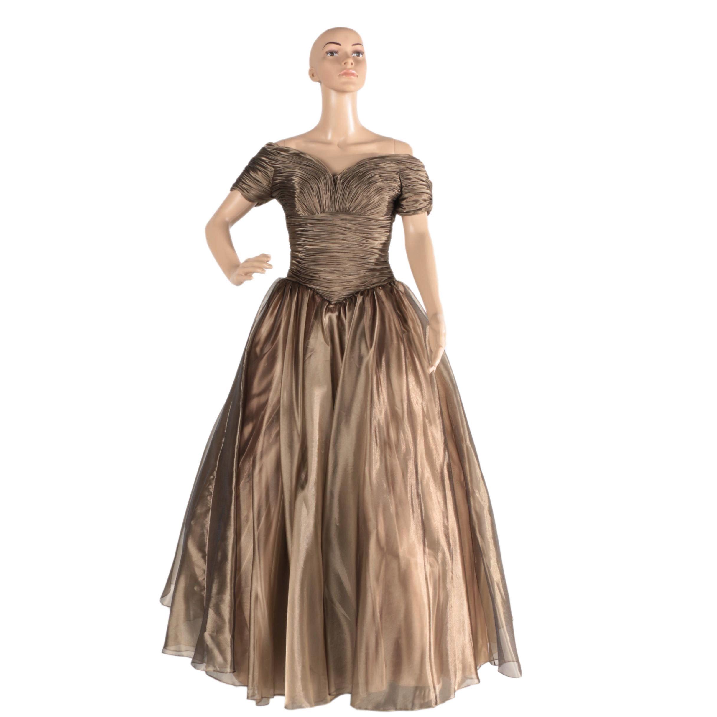 Women's Sherrie Hill Iridescent Bronze Gown