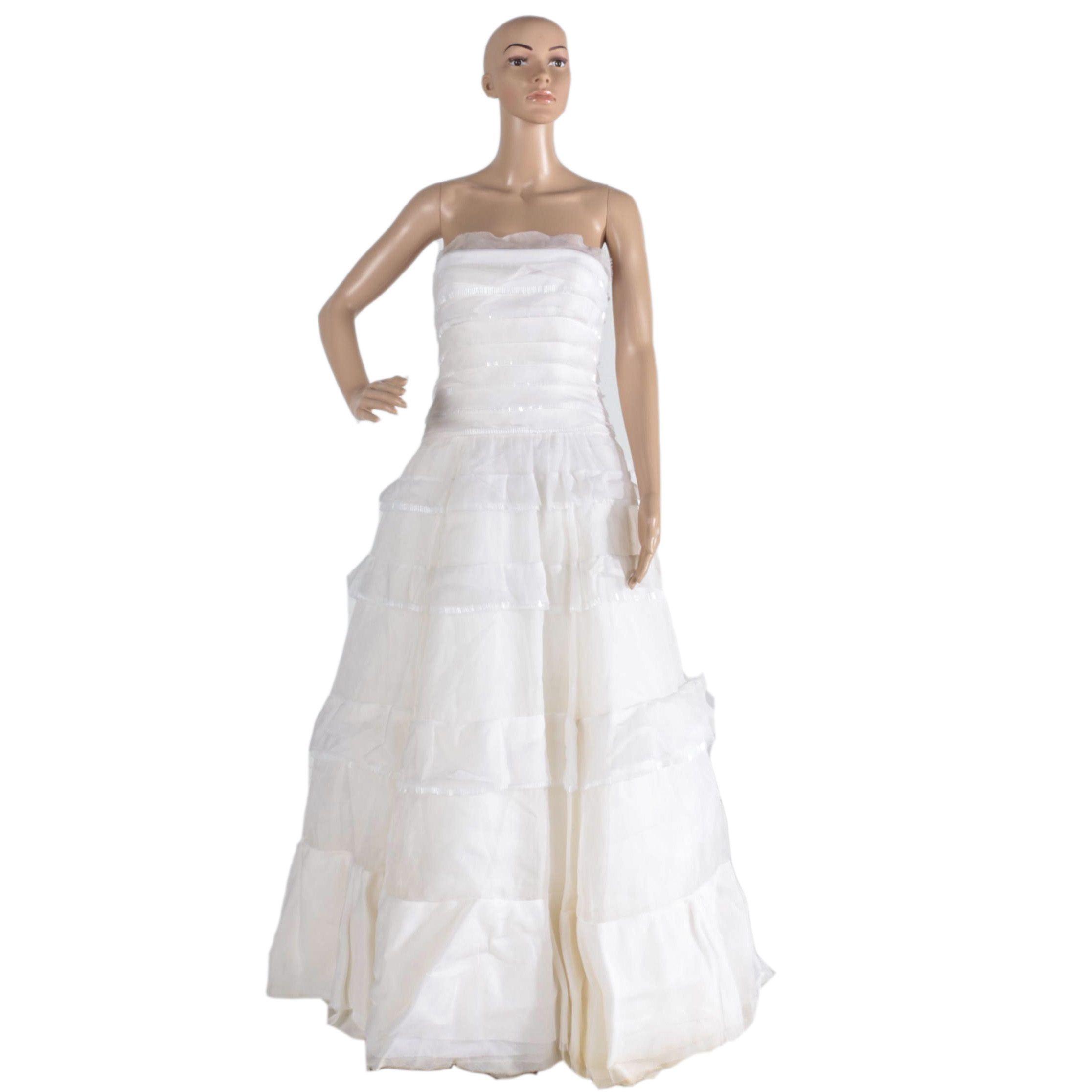Vera Wang 100% Silk Wedding Dress