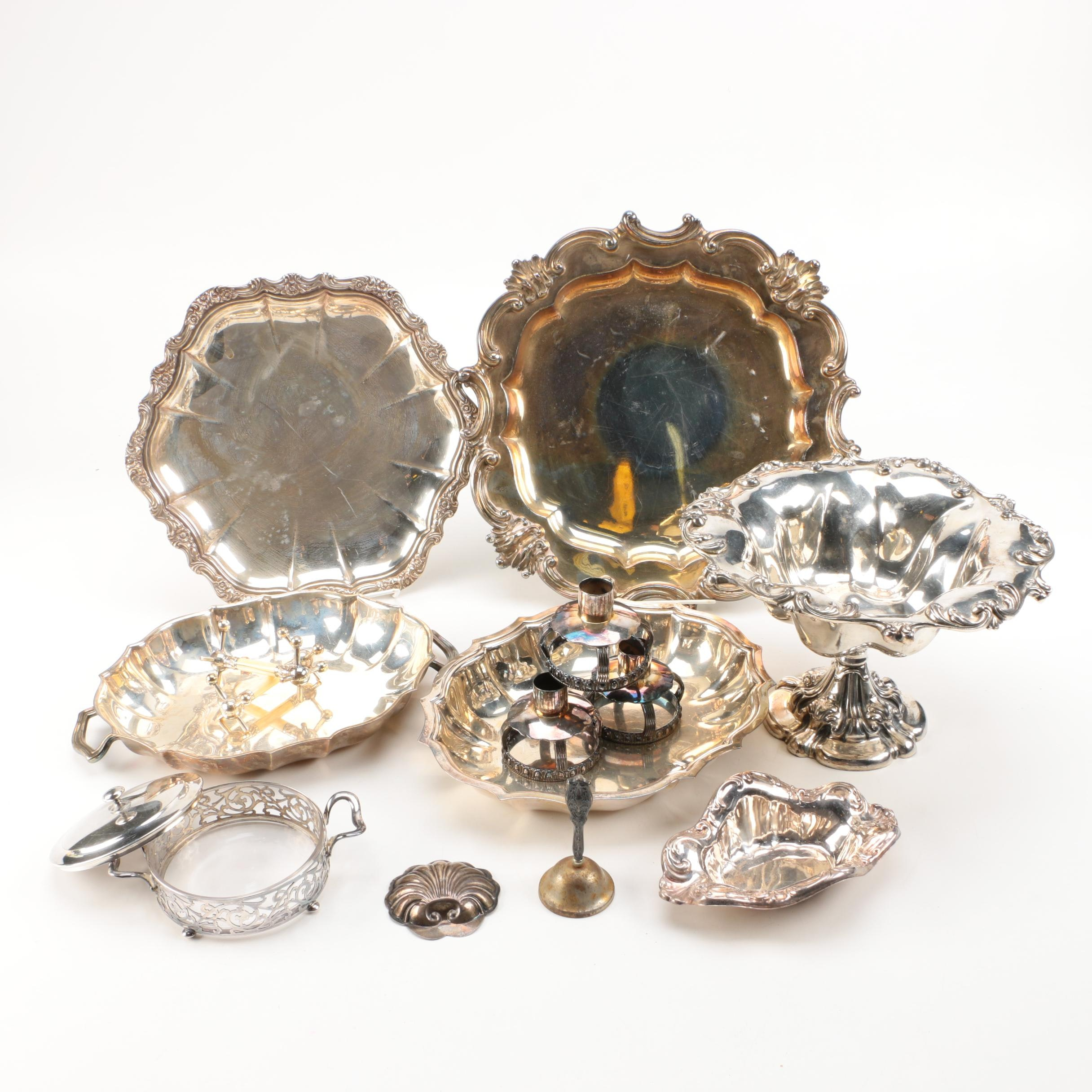 Silver Plate Platters and Serveware Including International Silver Co.