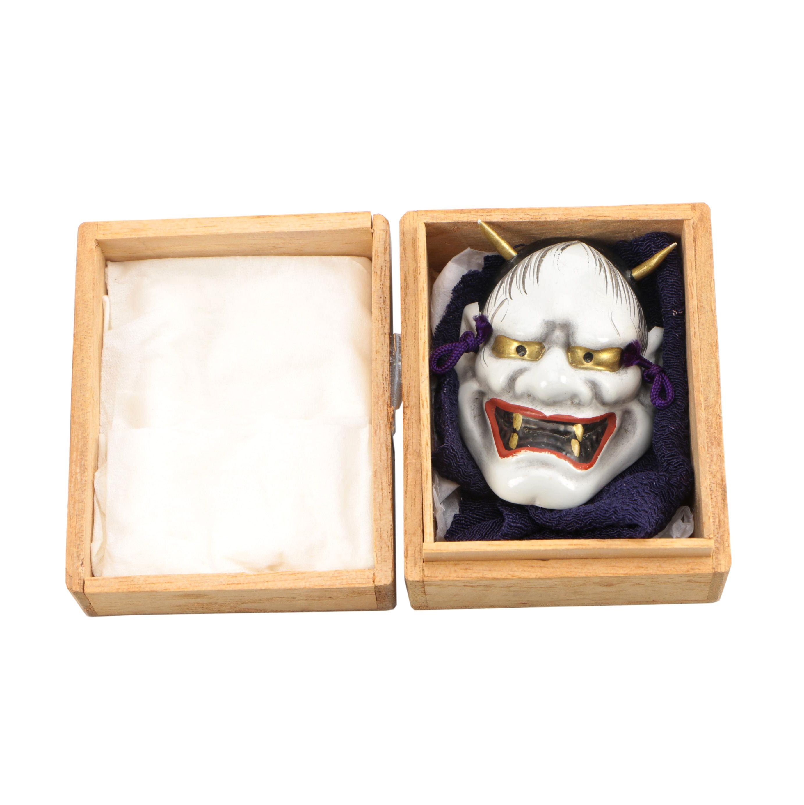 Japanese Oni Mask with Box